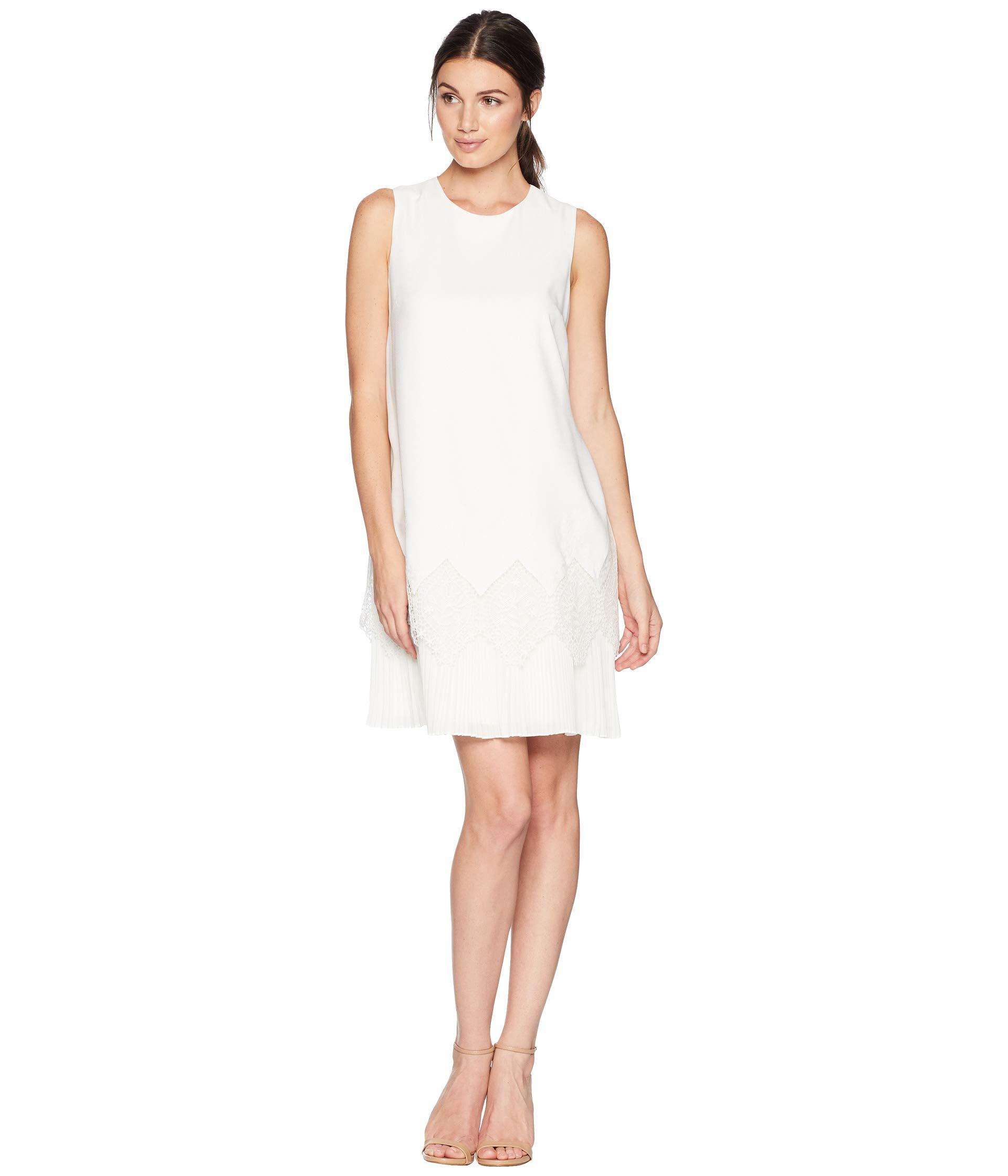 e5e570f99b1 Lyst - Ted Baker Nadeen Pleated Detail Hem Shift in White - Save 38%