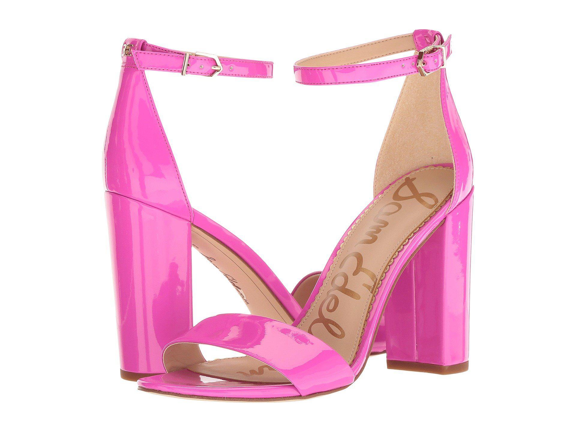 5e29199c4a78 Lyst - Sam Edelman Yaro Ankle Strap Sandal Heel in Pink