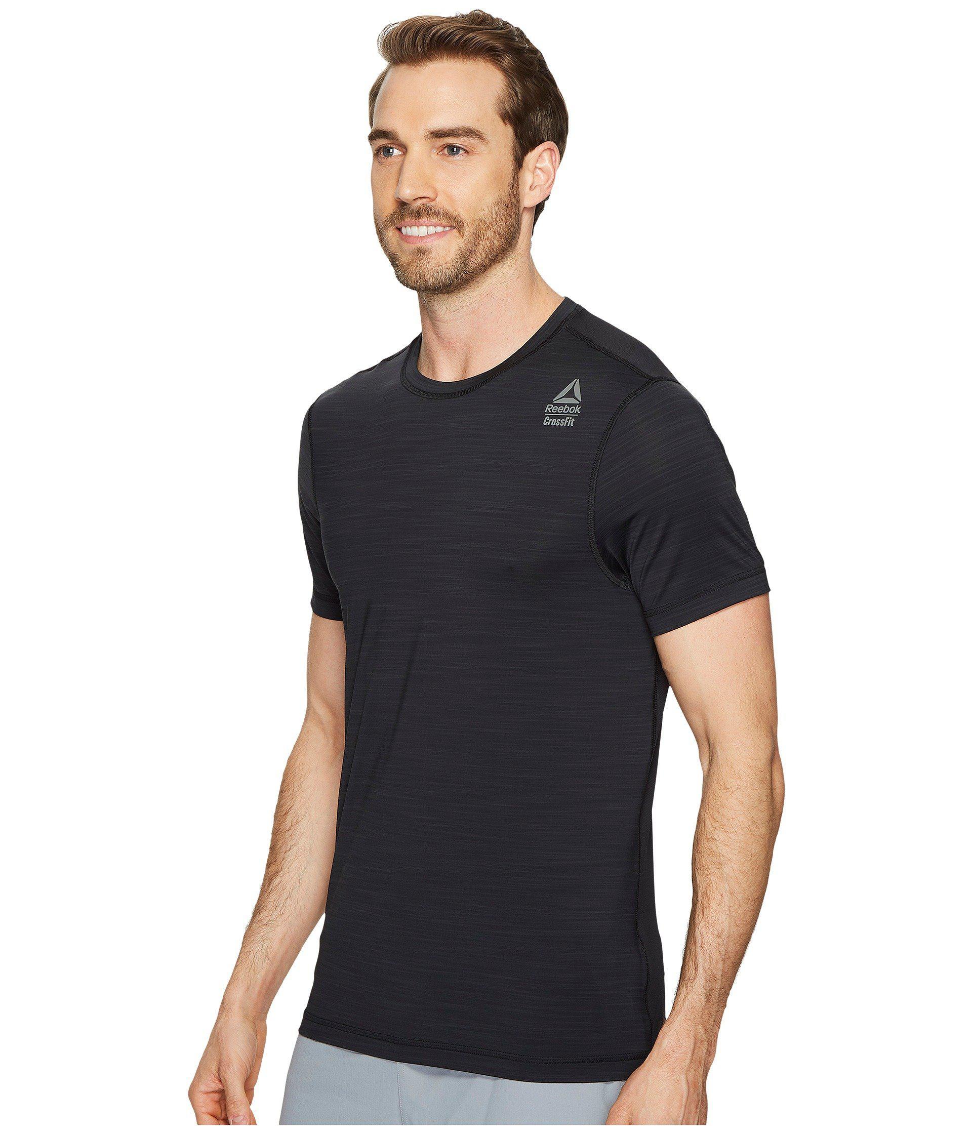 Lyst - Reebok Crossfit Activchill Vent Tee (black) Men s T Shirt in ... 76c311de818