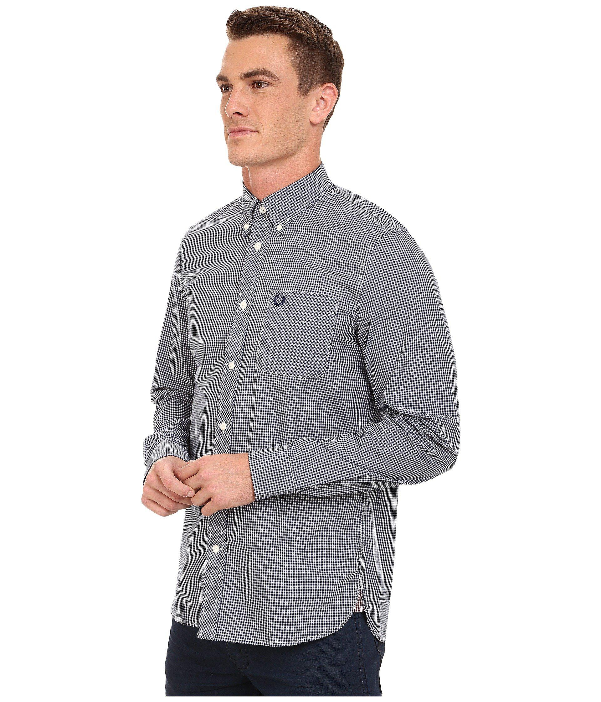 cfa07067c Lyst - Fred Perry Classic Gingham Shirt in Blue for Men