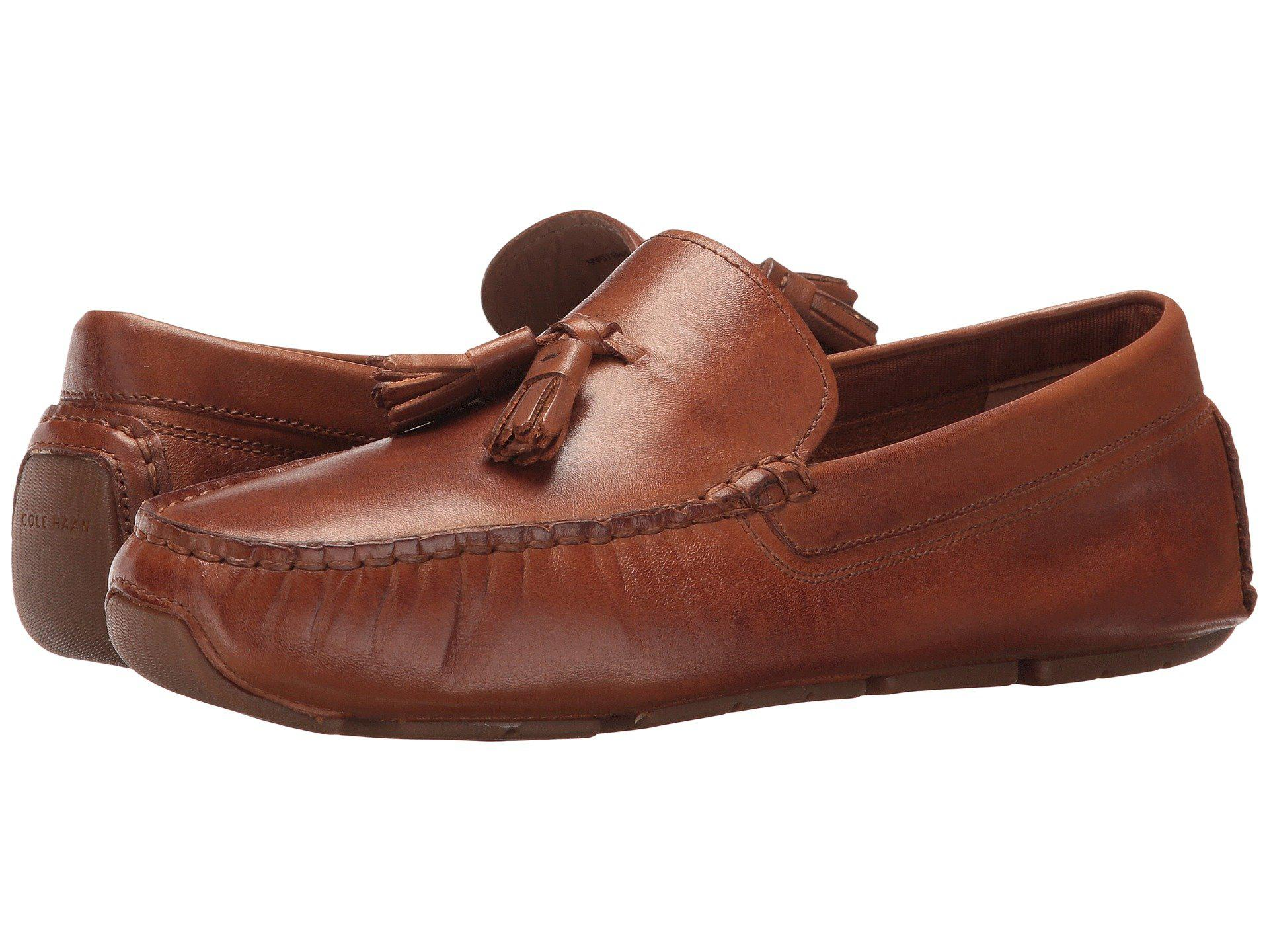 a55d75ec47e Lyst - Cole Haan Rodeo Tassel Driver in Brown - Save 35%