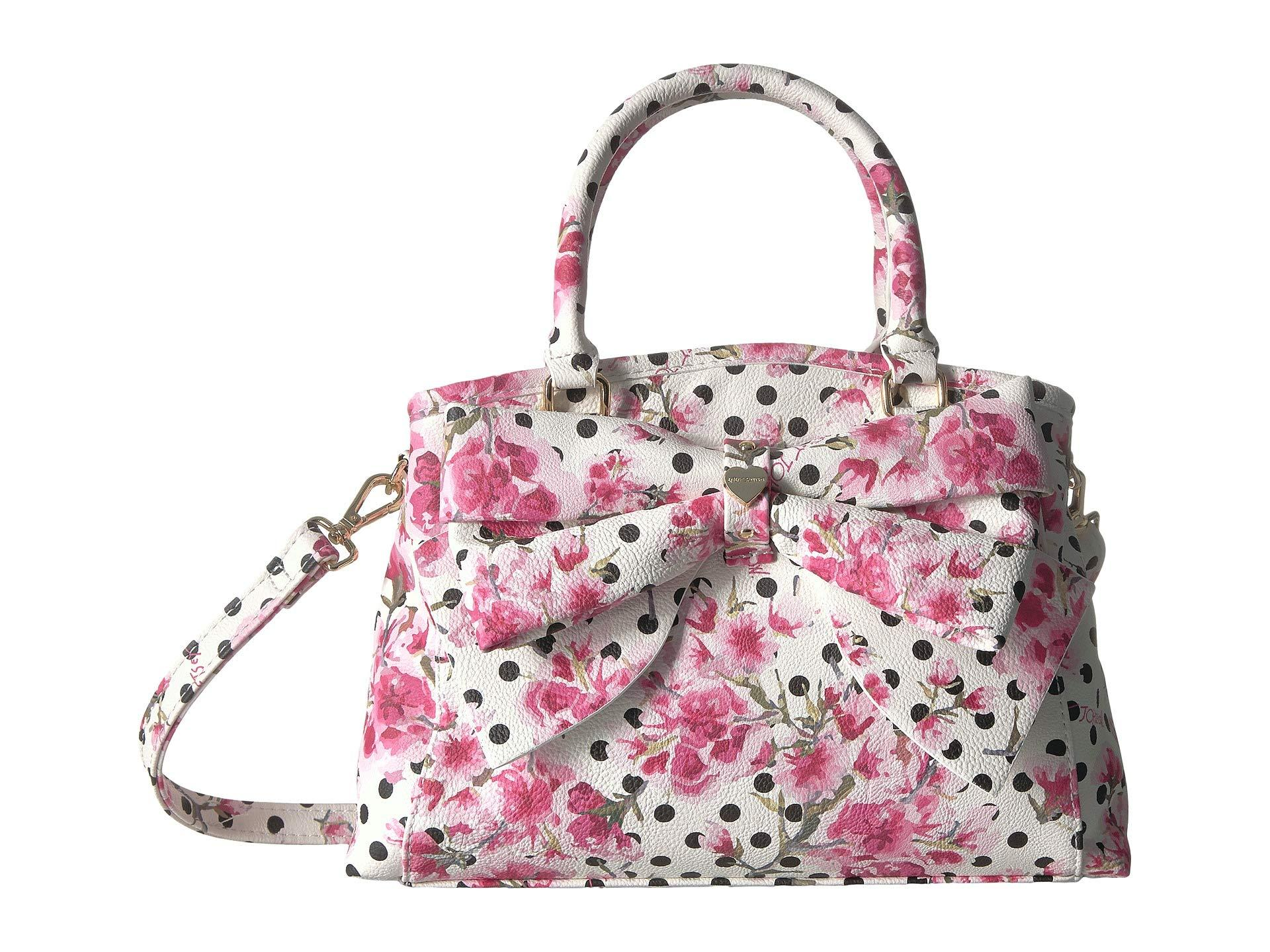 84ddbf3892 Lyst - Betsey Johnson Mini Bow Satchel in Pink