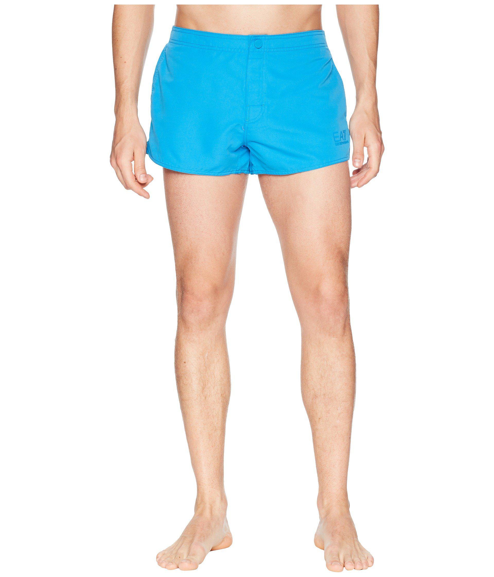 46d0f2b4c8 Lyst - Emporio Armani Ea7 Sea World Swim Shorts in Blue for Men ...