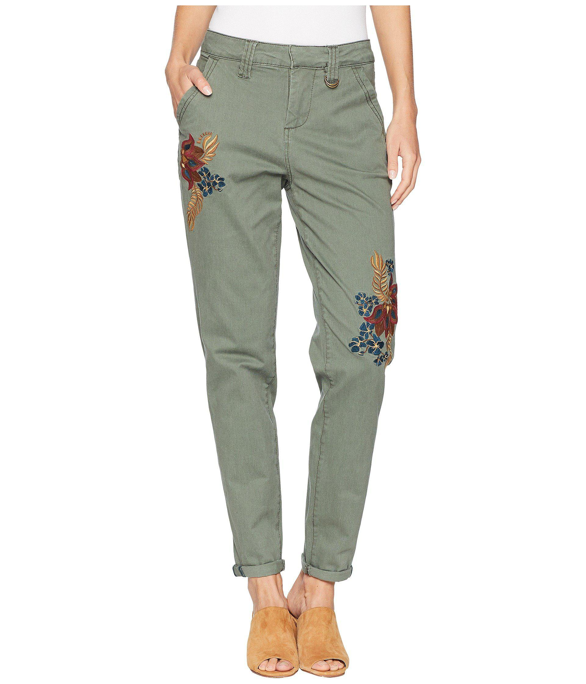 d6af8fc4461 Lyst - Jag Jeans Dana Chino Pants W  Embroidery in Green