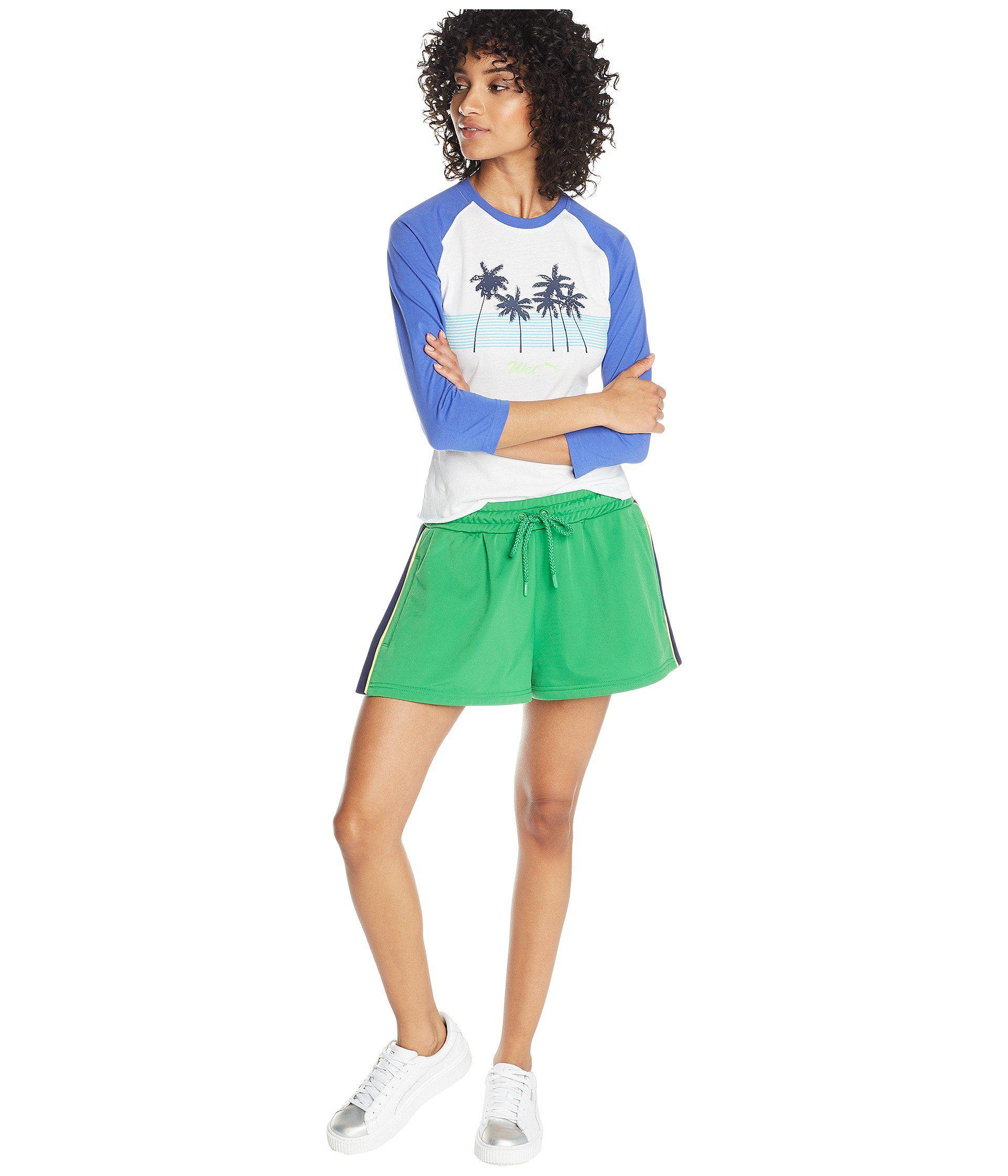 1be3a66c1921 PUMA - Green X Fenty By Rihanna Side Split Shorts - Lyst. View fullscreen