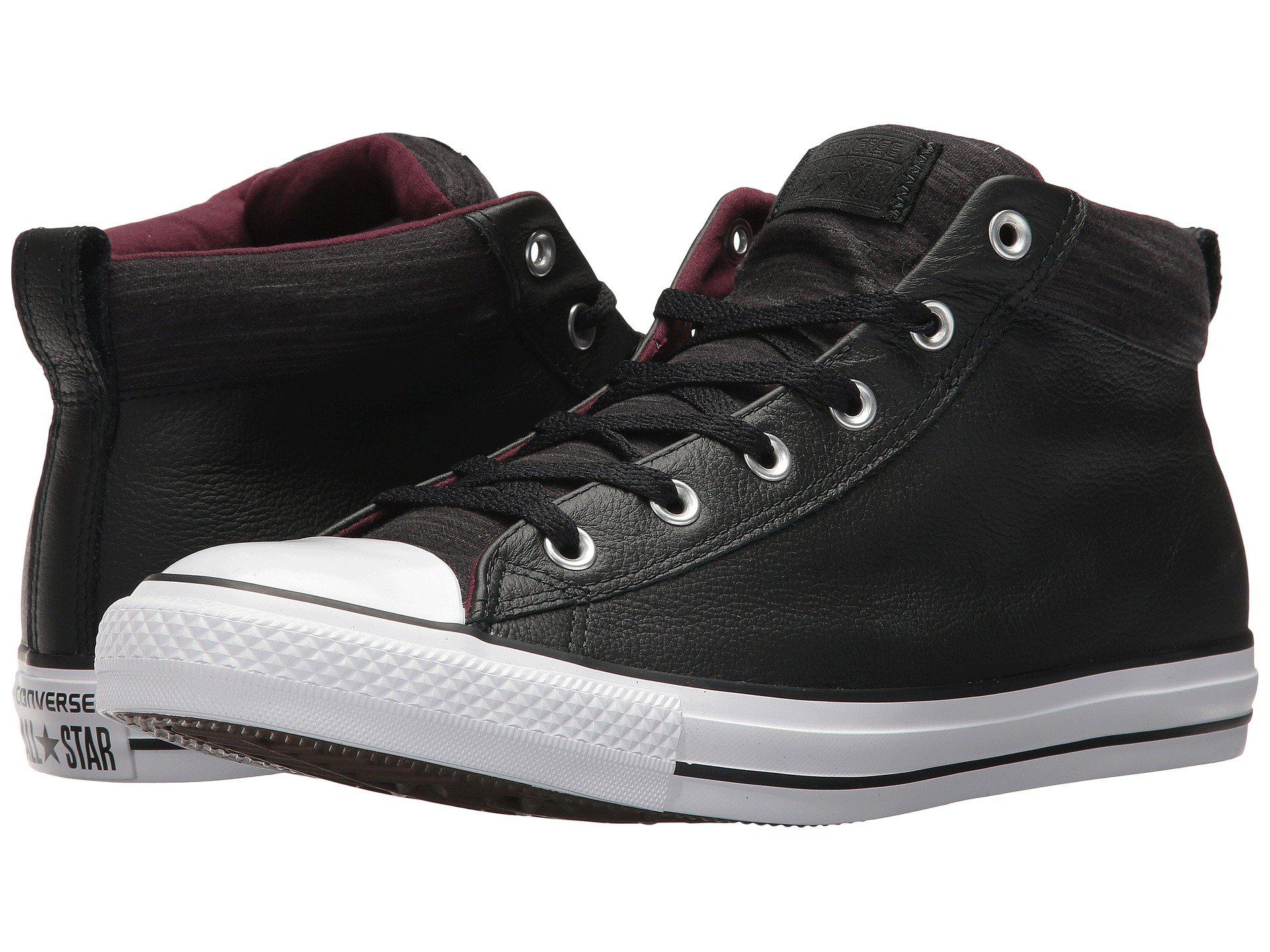 135cce7bb2dc Converse - Black Chuck Taylor® All Star® High Street Leather W  Fleece Mid.  View fullscreen