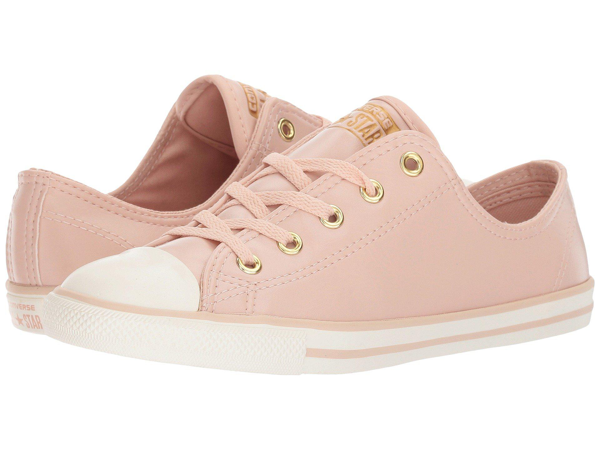 d94371a79416 Lyst - Converse Chuck Taylor All Star Dainty - Ox Craft Sl in Pink