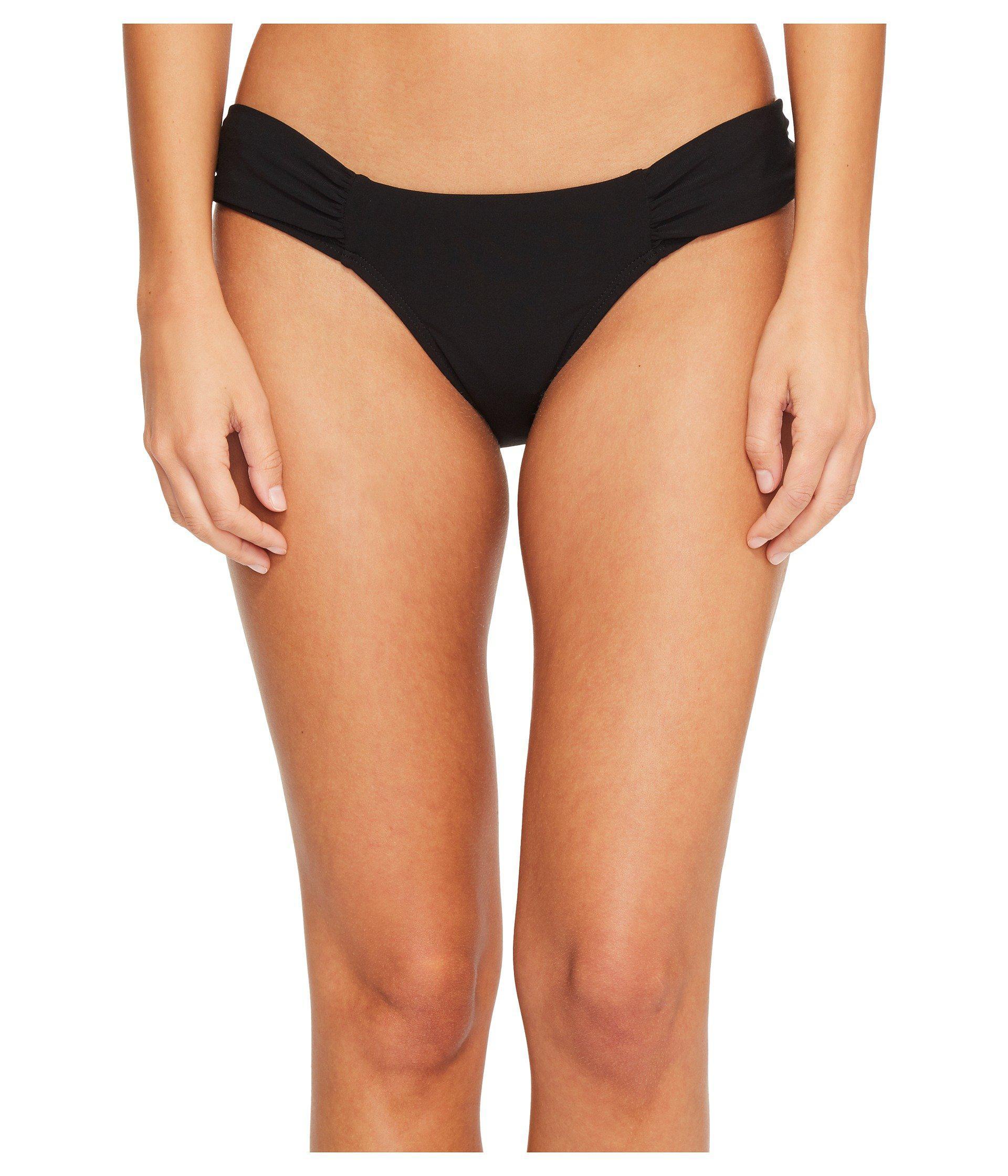 ca2c778a41c77 Lyst - Robin Piccone Ava Tab Side Bikini Bottom in Black - Save 24%