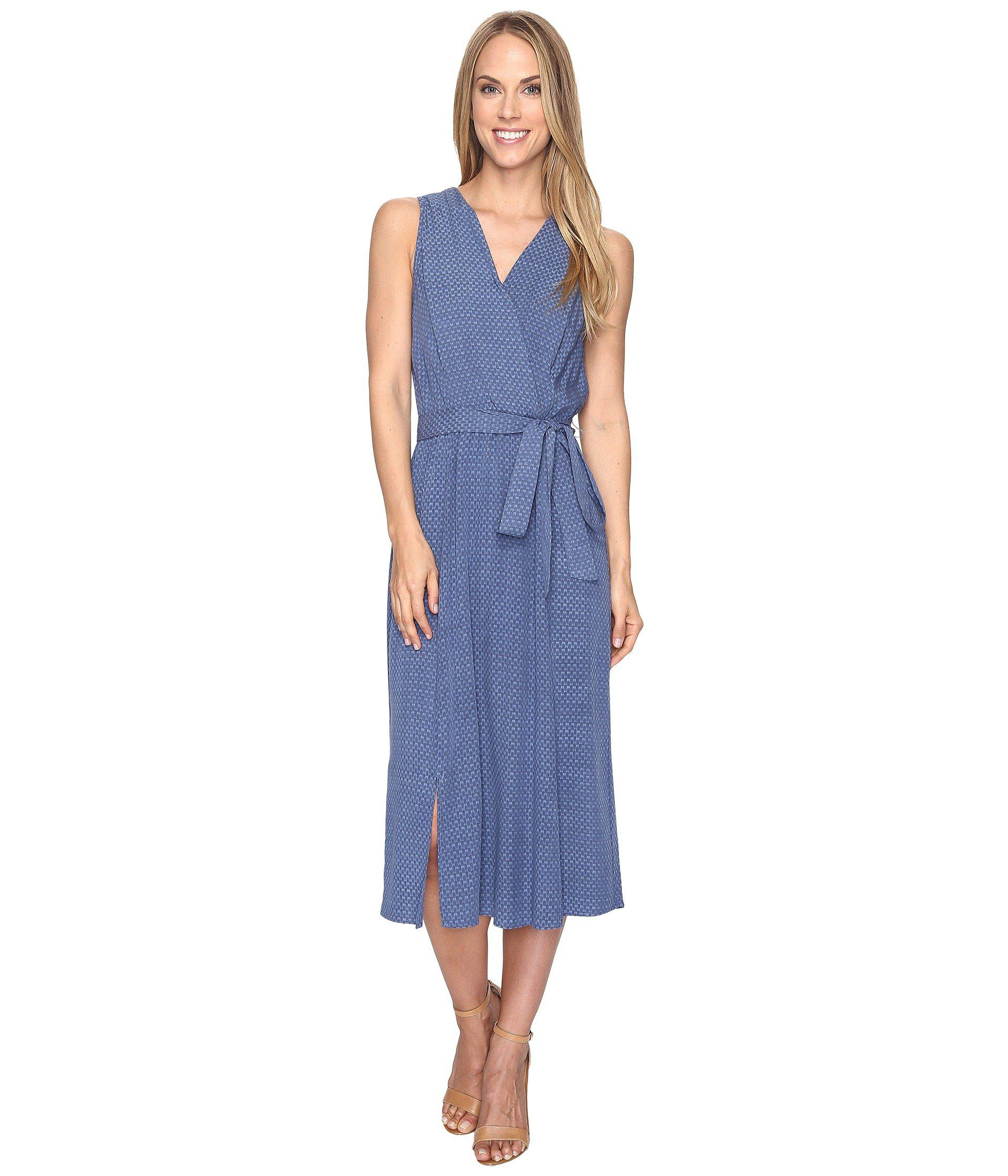 B Collection By Bobeau Kate Chambray Wrap Dress In Blue Lyst