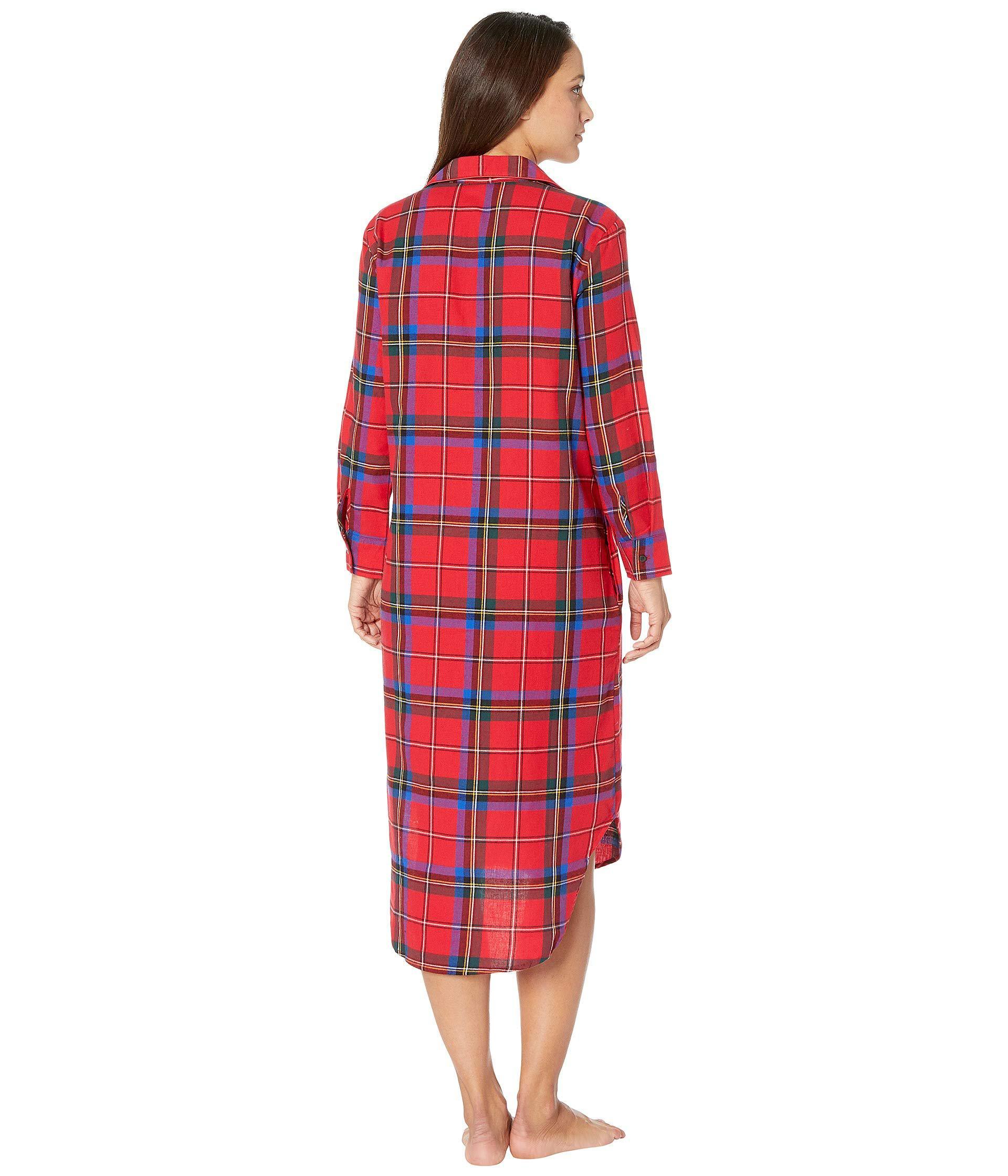 Lyst - Lauren by Ralph Lauren Petite Long Sleeve Ballet Length Sleepshirt  in Red - Save 10% d9bf8031a