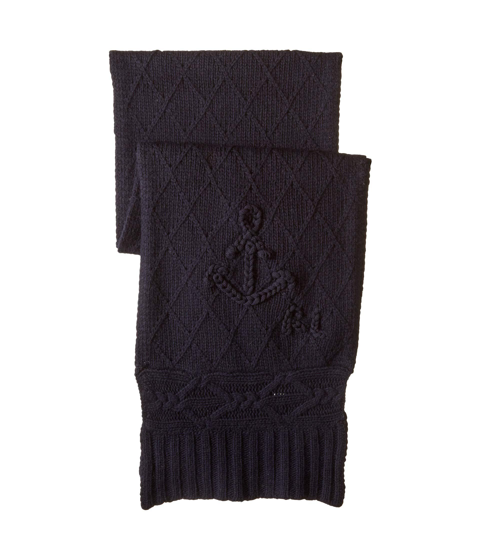 Lyst - Polo Ralph Lauren Chainstitch Anchor Scarf in Blue - Save  50.72463768115942% b02b09c0ac3