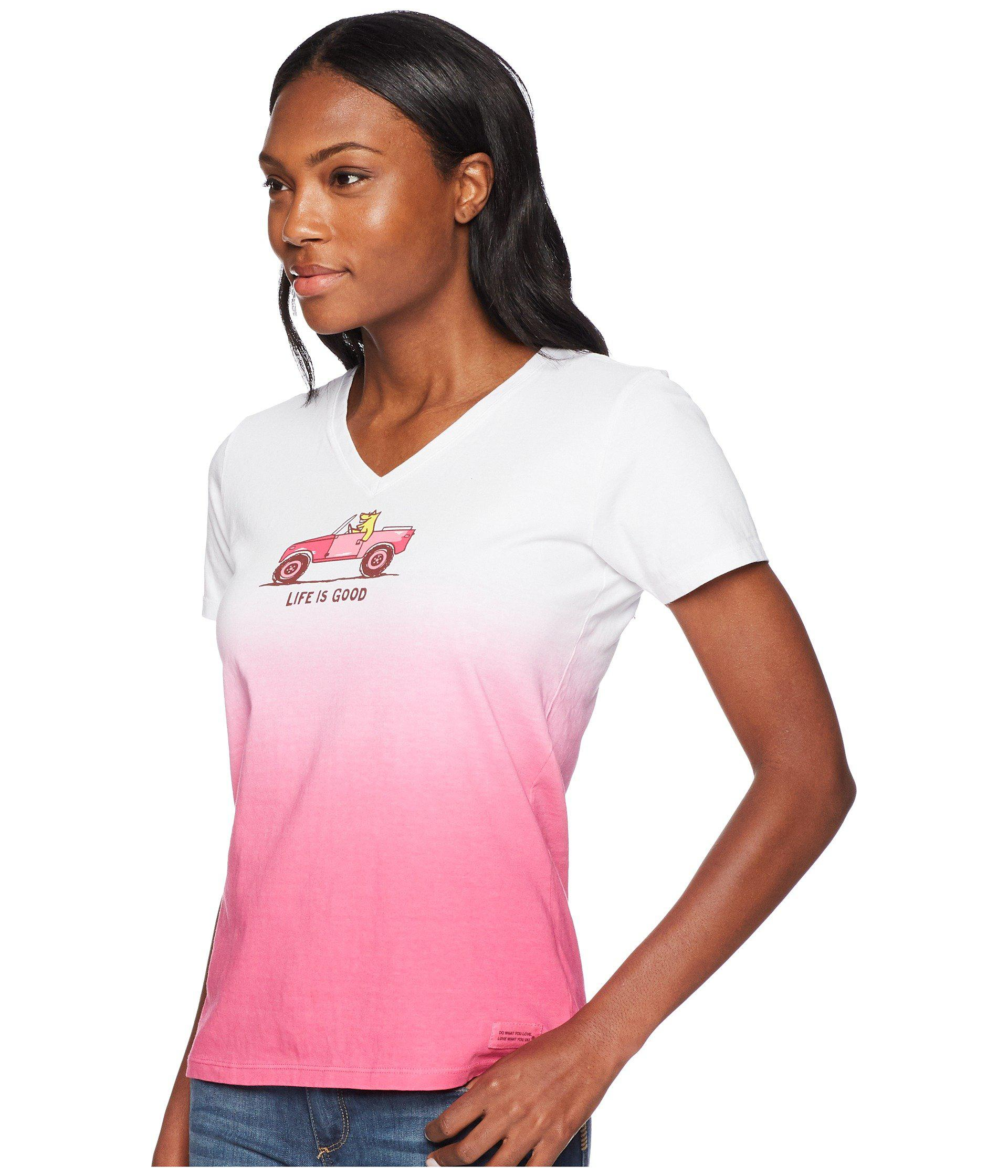 67c04c55e62 Lyst - Life Is Good. 4x4 Rocket Crusher Vee Tee in Pink - Save 21%