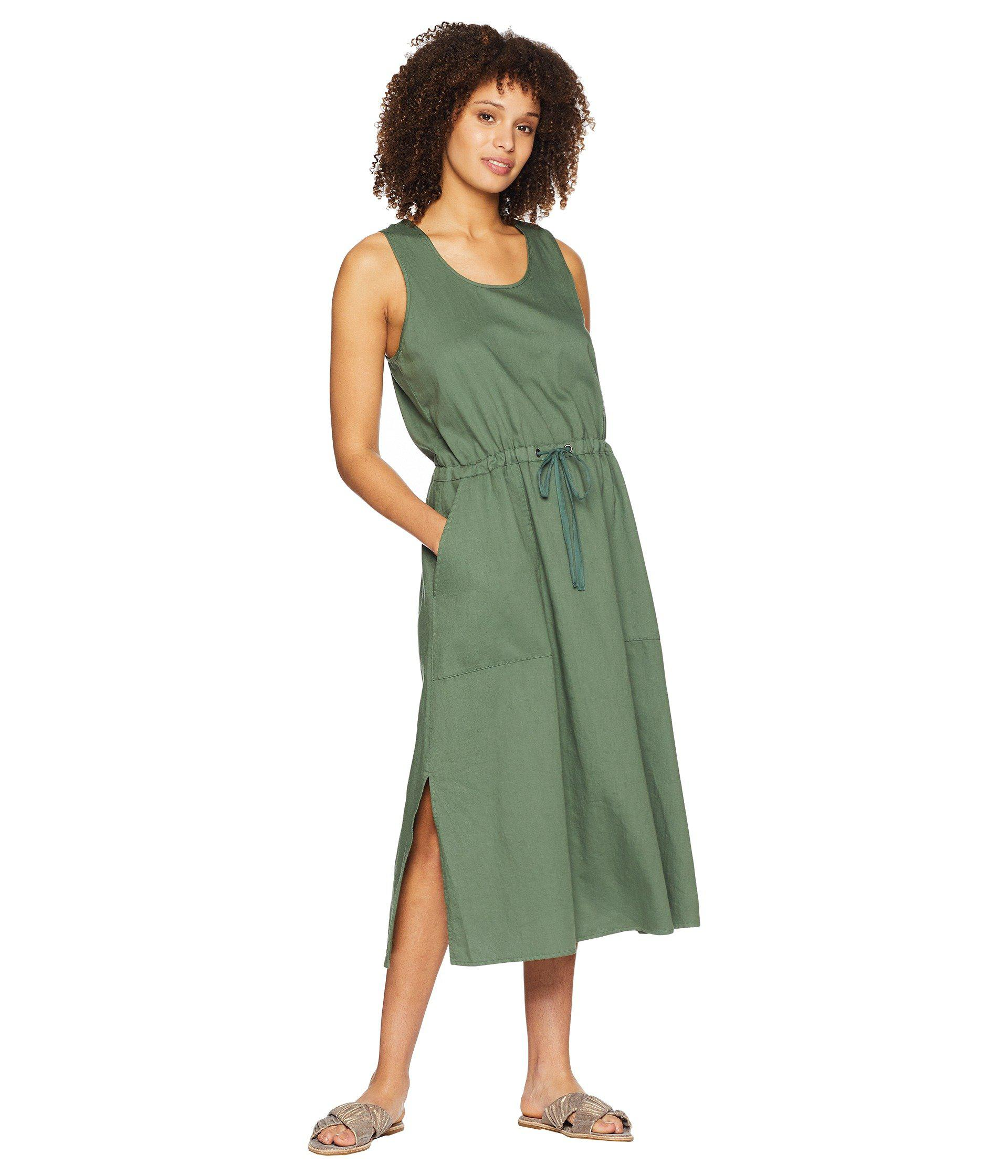 229847fff1fbd4 Eileen Fisher - Green Scoop Neck C l Dress - Lyst. View fullscreen