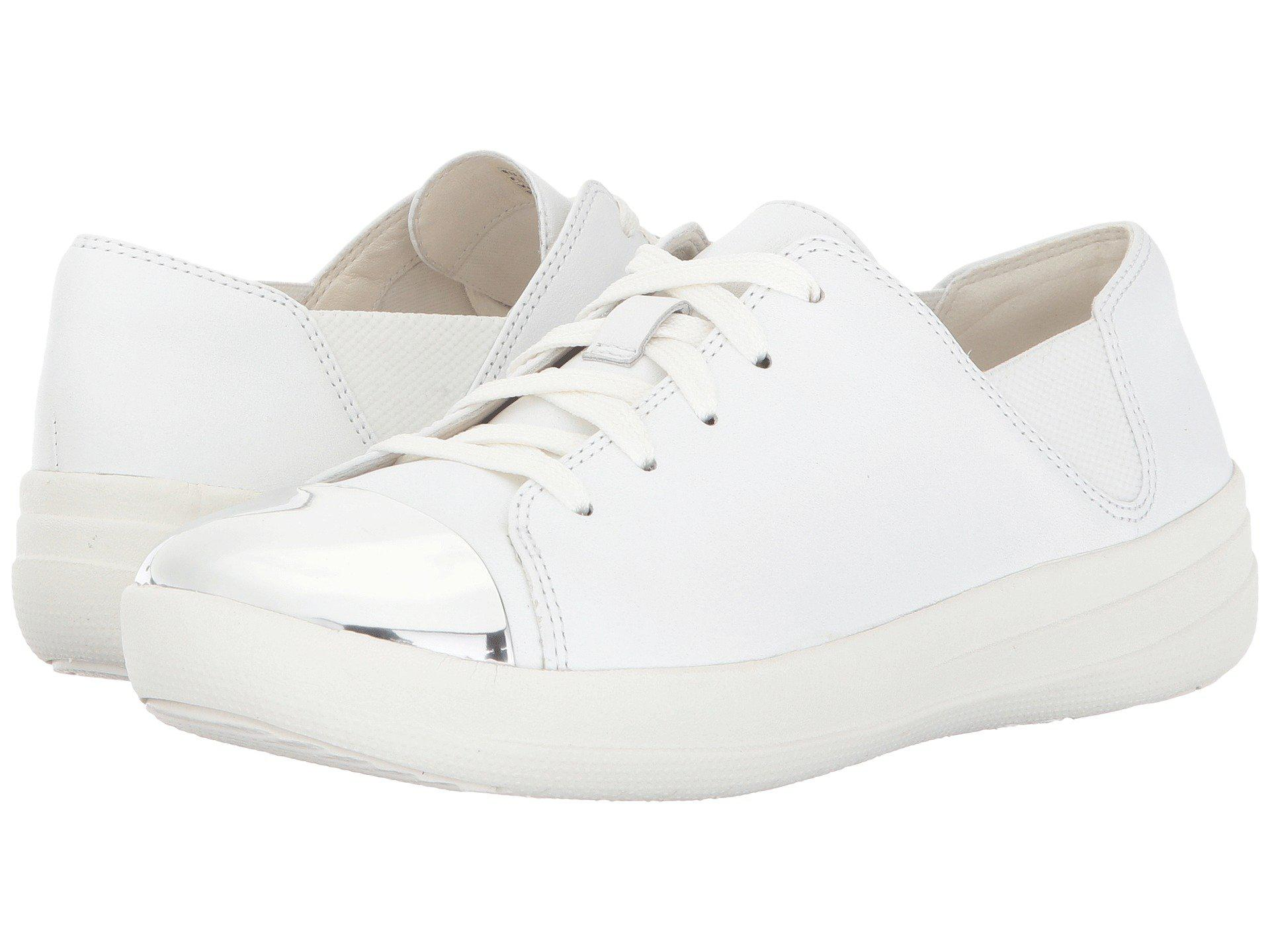 15bc044141f17b Lyst - Fitflop F-sporty Mirror-toe Sneaker in White - Save 55%