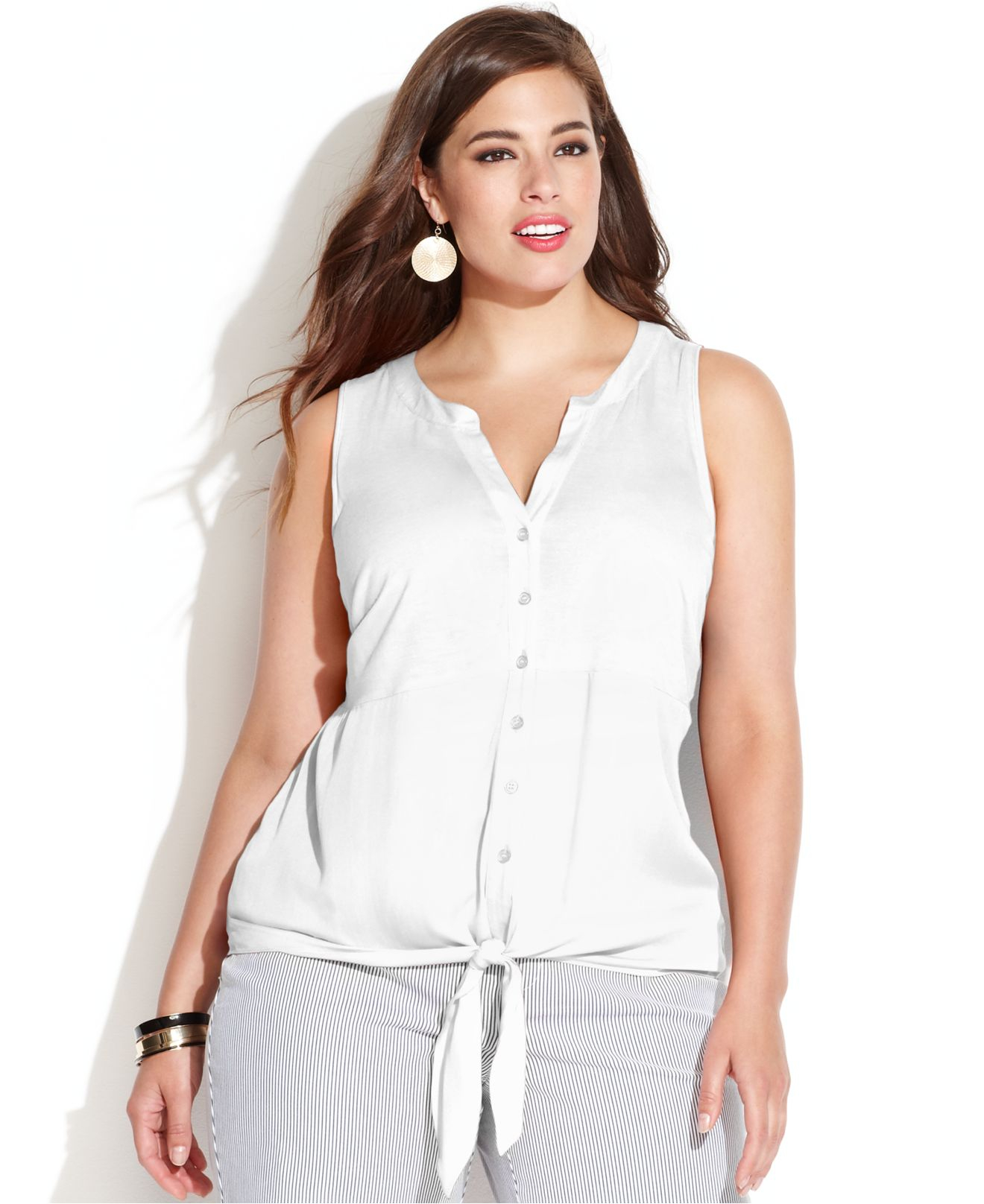 Lyst Inc International Concepts Plus Size Sleeveless Tie