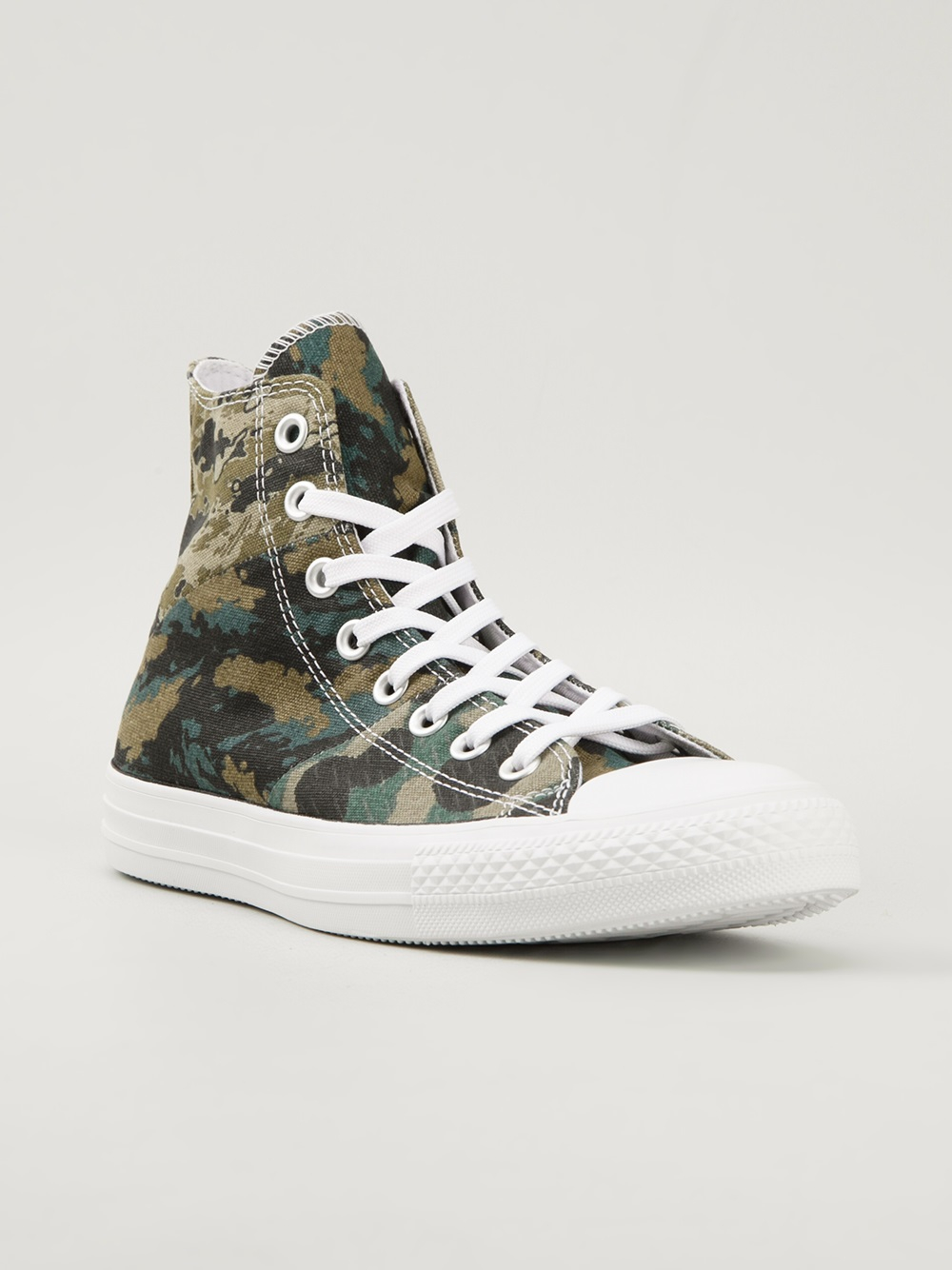 310fdb8a9e2 Lyst - Converse Camouflage Print Hitop Sneakers in Green for Men