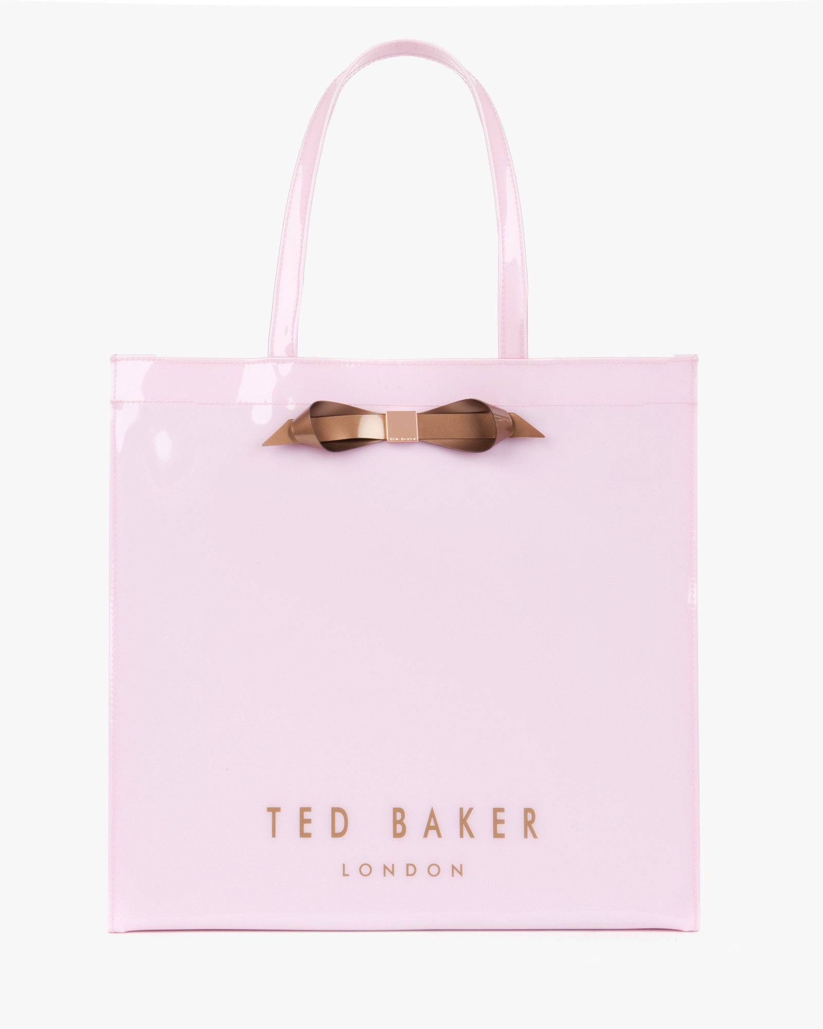0bef1f358723 Lyst - Ted Baker Patent Bow Shopper in Pink