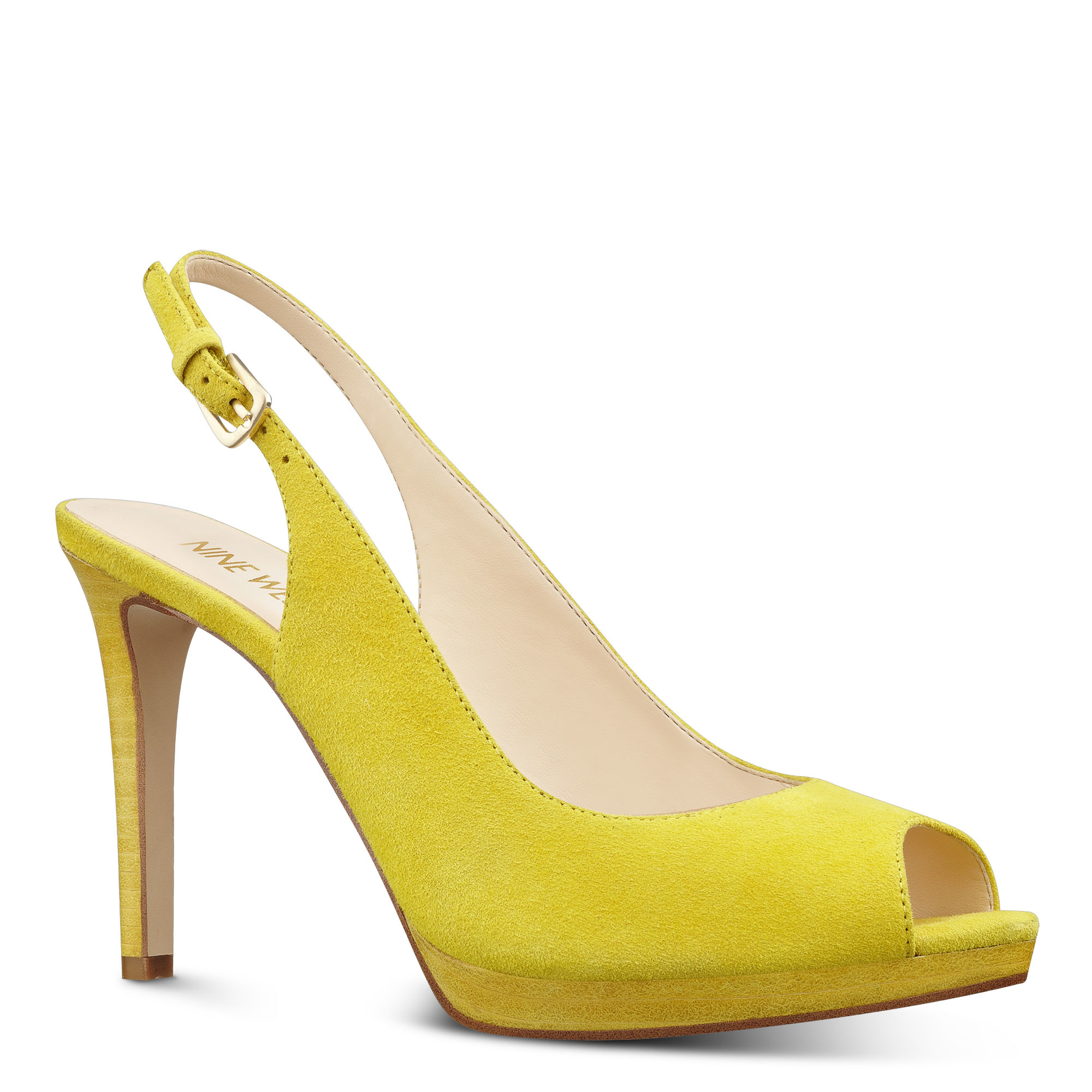 5052e5e558b088 Lyst - Nine West Emilyna Slingback Pumps in Yellow