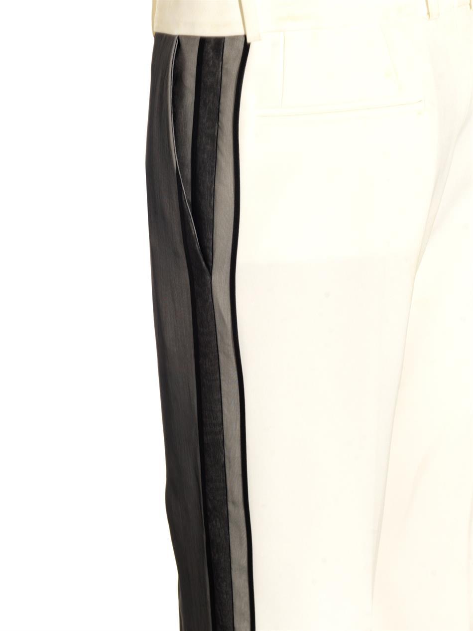 Céline Silk-Layer Cady Trousers in Black