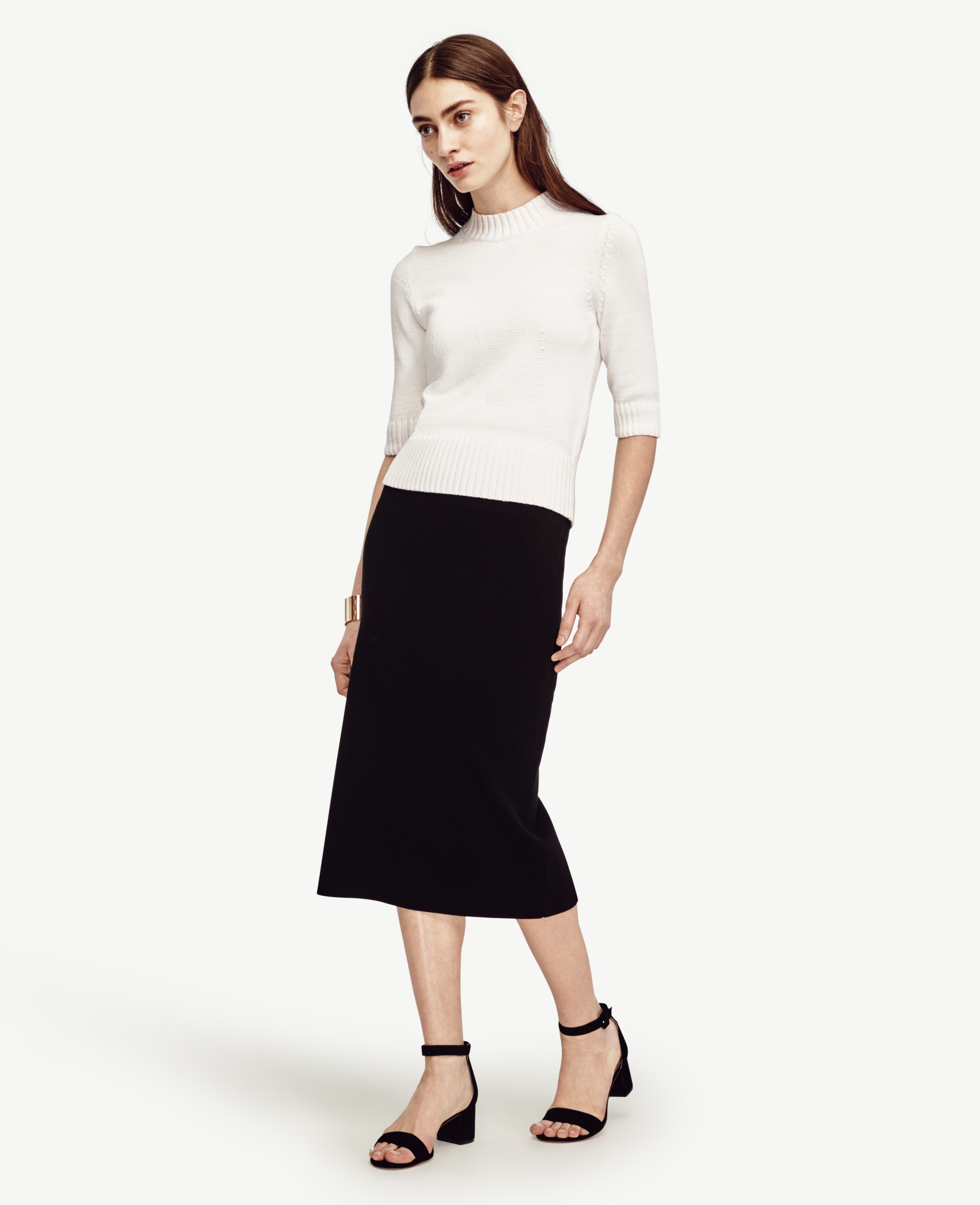 Ann taylor Petite Sweater Pencil Skirt in Black | Lyst