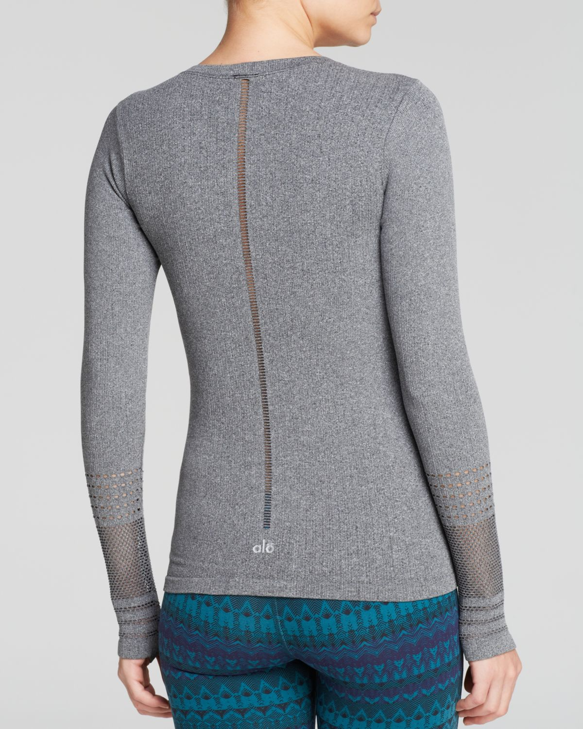 Alo Yoga North Star Seamless Long Sleeve Top In Black