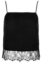 Topshop Straight Neck Lace Hem