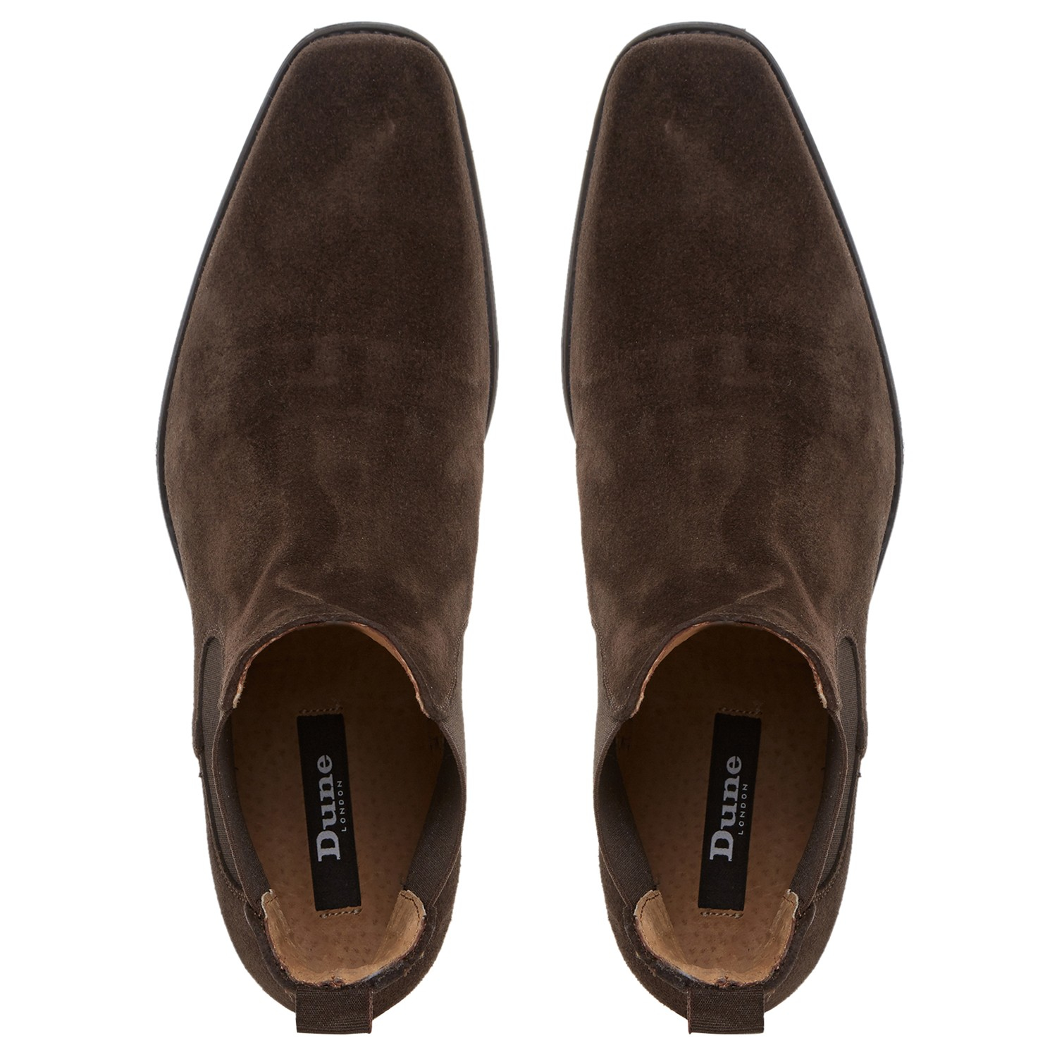 Dune Marky Suede Chelsea Boots In Brown For Men Lyst