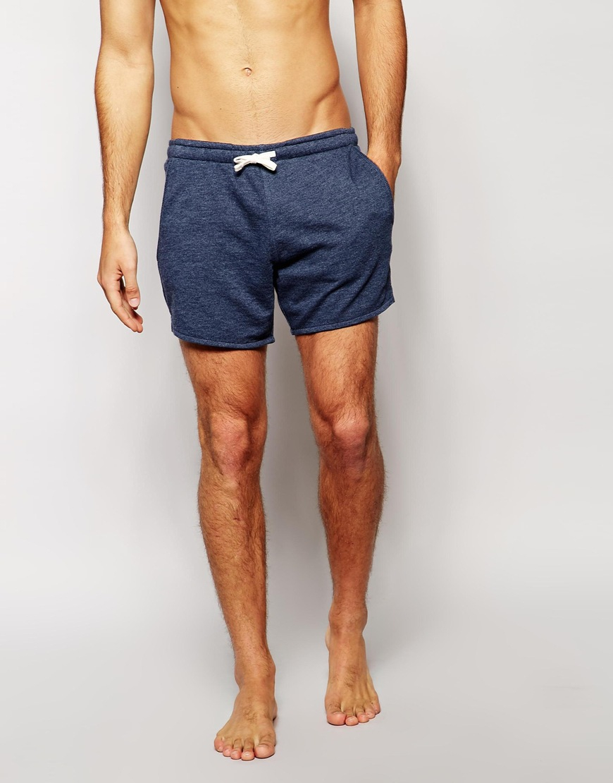 Asos Loungewear Jersey Shorts In Short Length in Blue for Men | Lyst