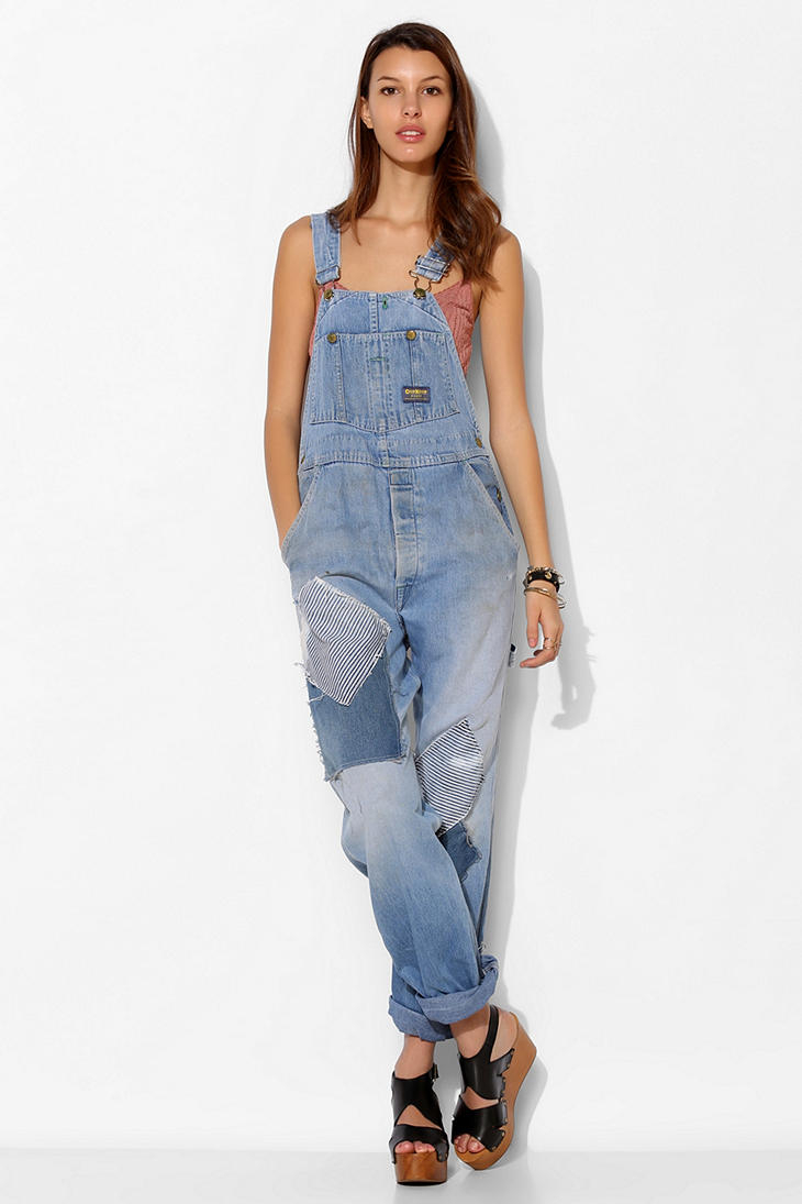 Urban Outfitters Urban Renewal Repaired Denim Overall in