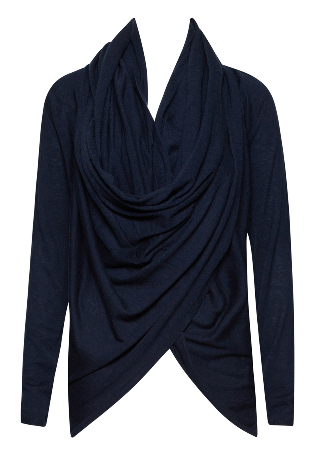 Alice   olivia Drape Wrap Around Sweater in Blue | Lyst