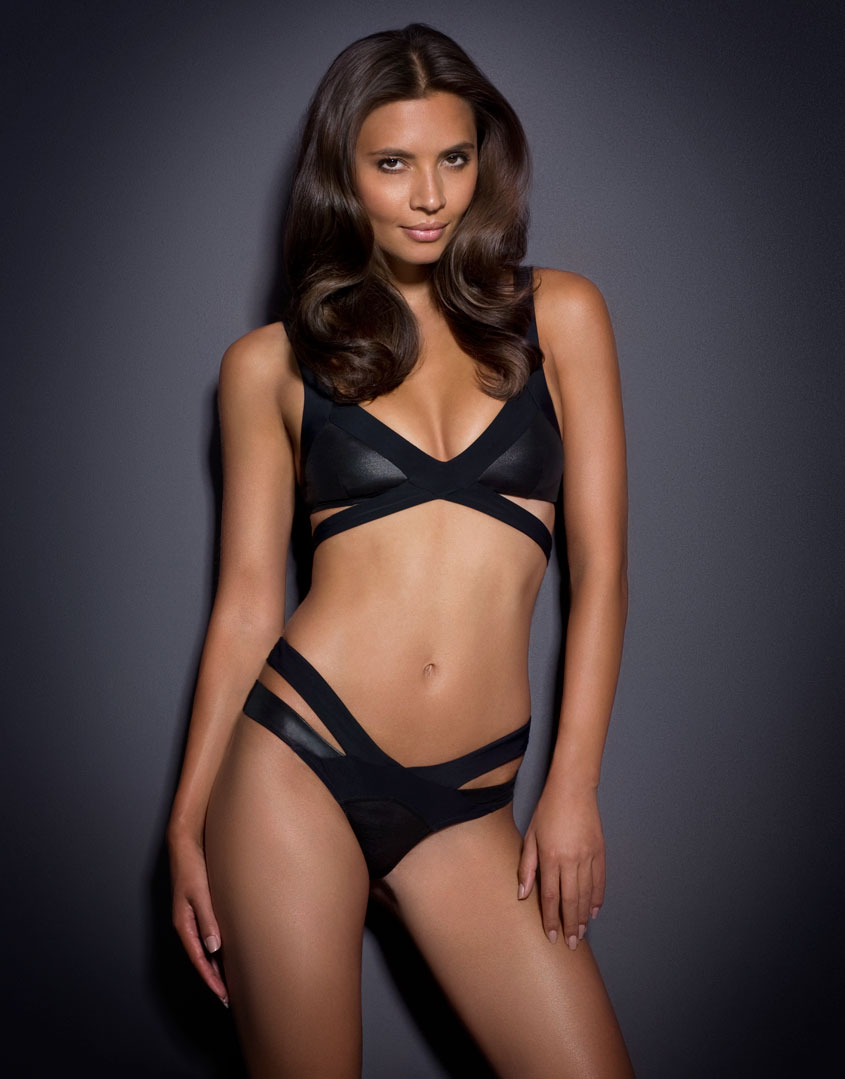 5b64b0d83e Agent Provocateur Mazzy Bikini Brief in Black - Lyst