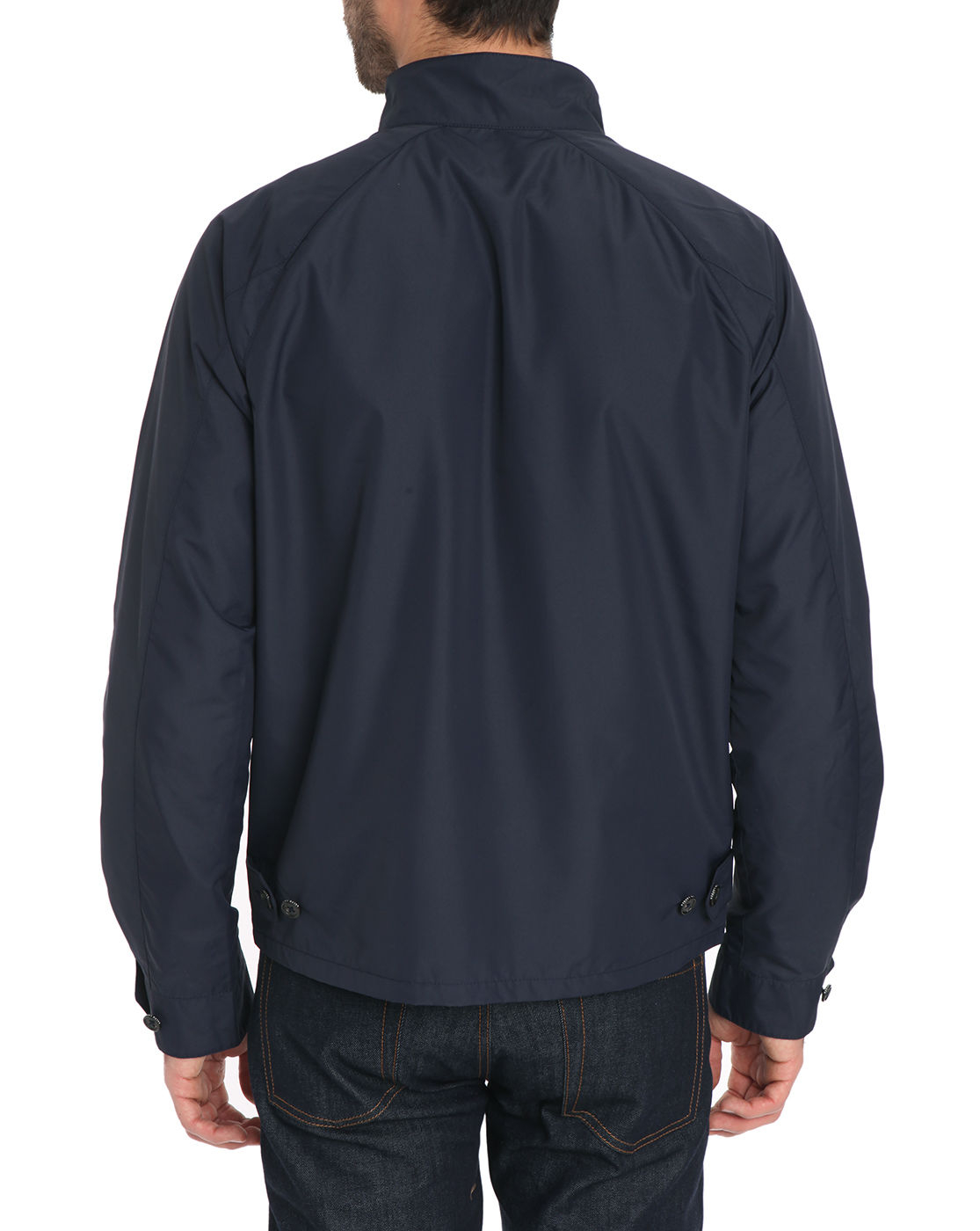 polo ralph lauren navy blue nylon raglan jacket in blue for men navy. Black Bedroom Furniture Sets. Home Design Ideas