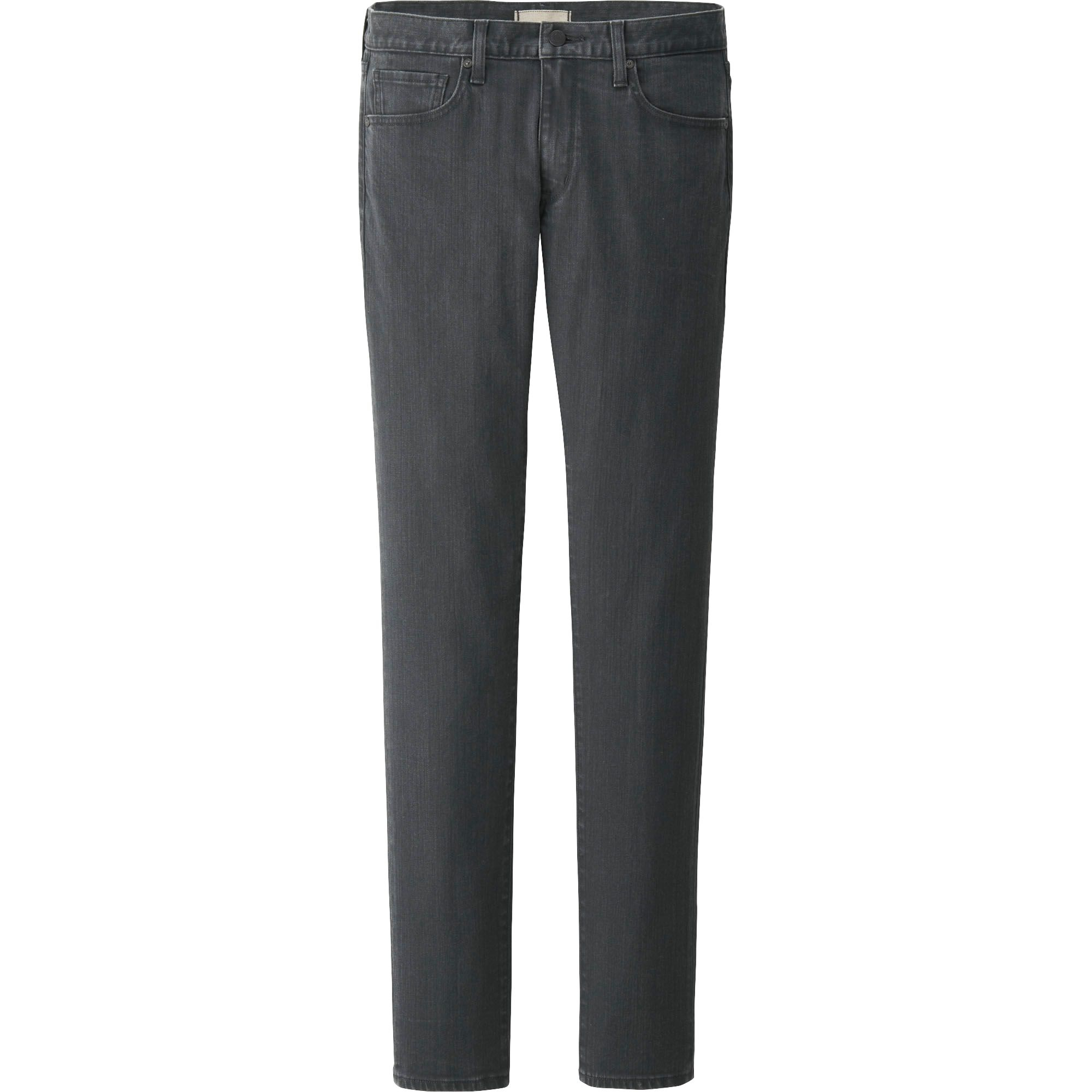 uniqlo men skinny fit tapered jeans in gray for men lyst. Black Bedroom Furniture Sets. Home Design Ideas