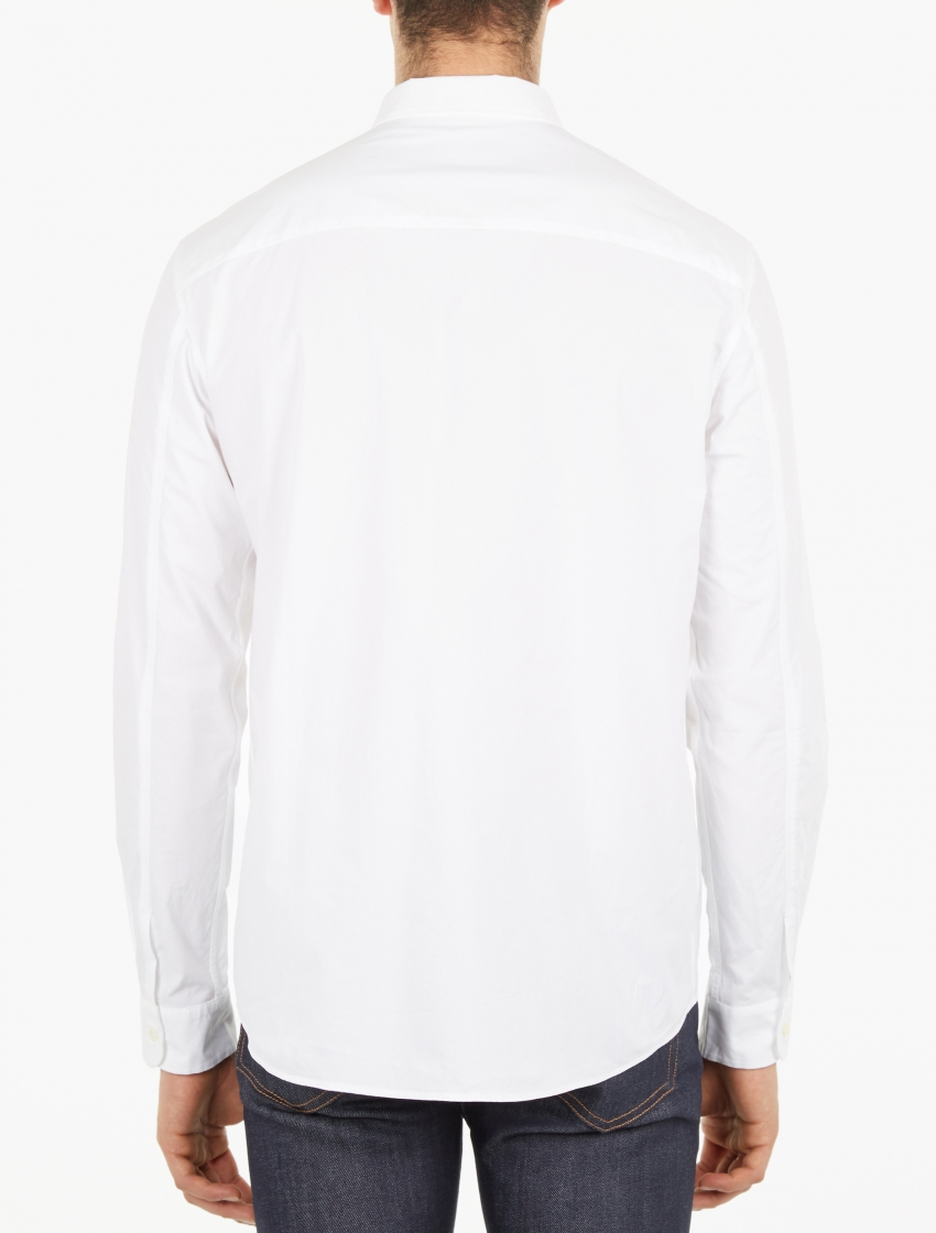 A p c white cotton smart shirt in white for men lyst for Apc white t shirt