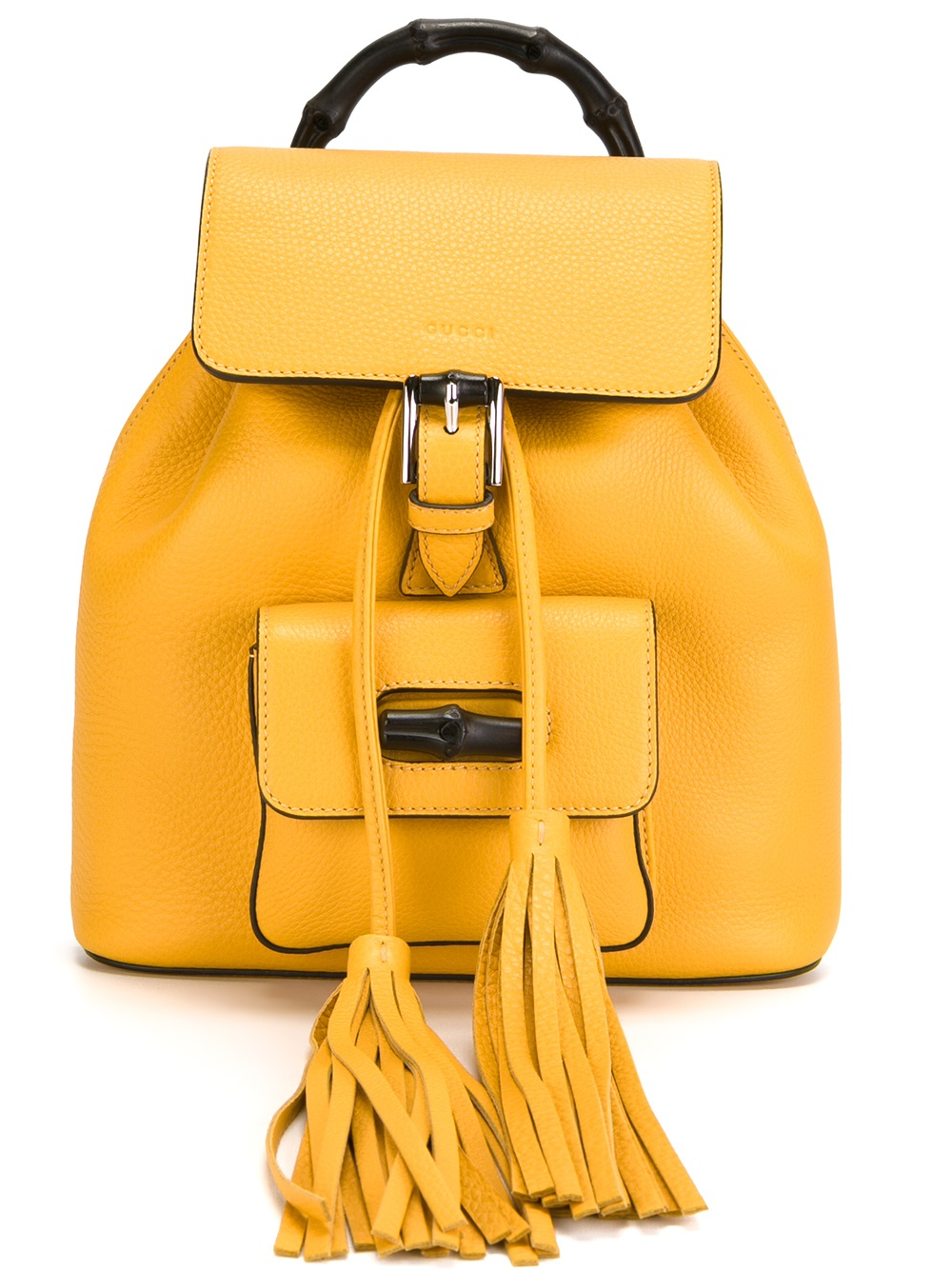 71e0bcade4c Lyst - Gucci Bamboo Backpack in Yellow