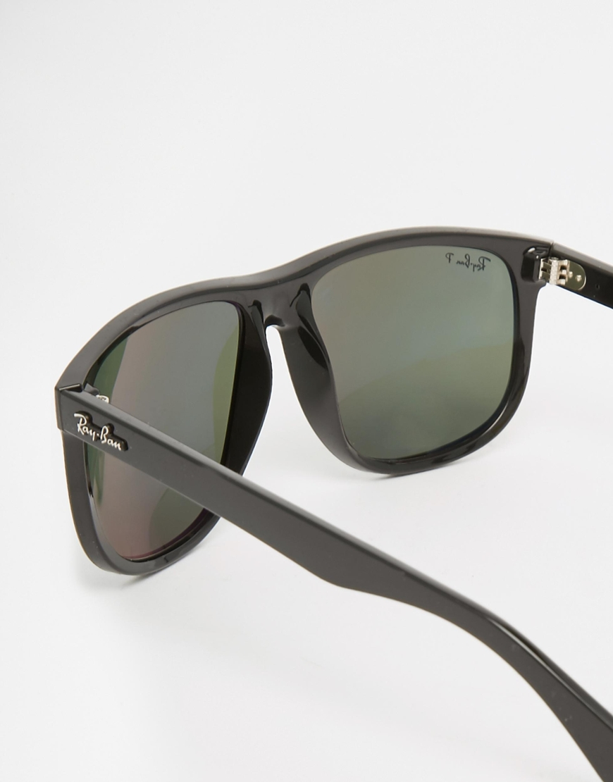 0160b6e2337 Ray-ban Wayfarer Polarised Sunglasses Rb4147 in Black for Men