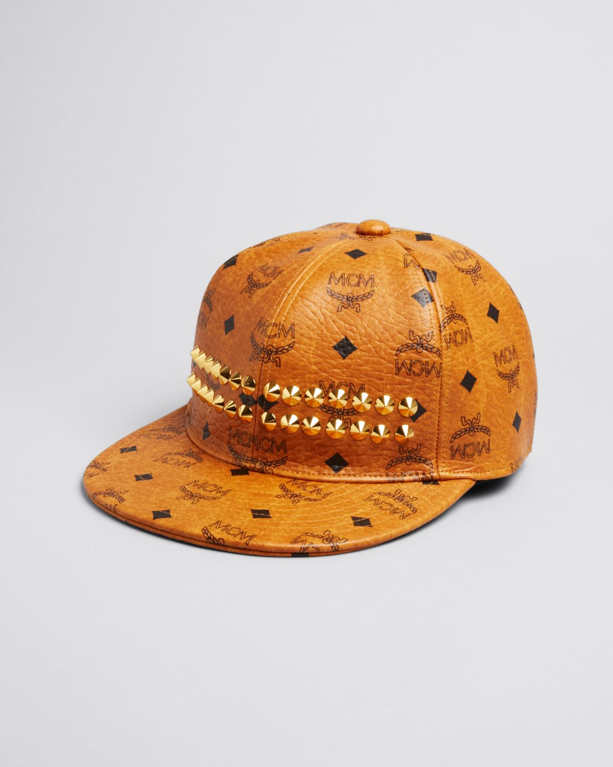 ... france lyst mcm studded logo cap in brown for men 01cb7 a7ec5 cheap  authentic burberry reversible bucket ... 4e9b52bb2d94