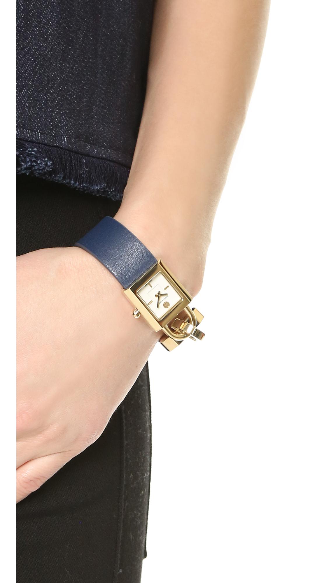 fd550acae70 Lyst - Tory Burch The Surrey Watch in Blue