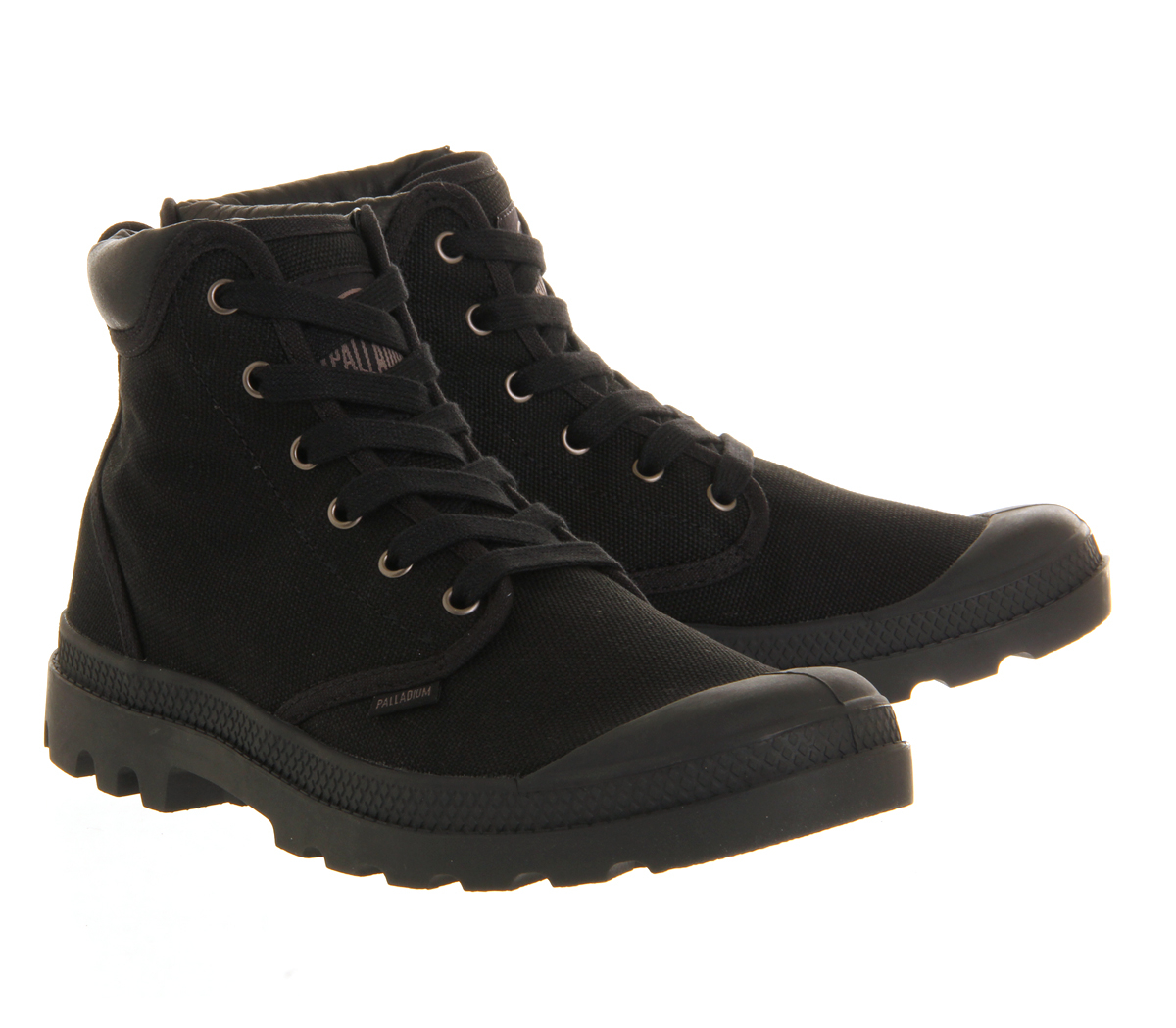 palladium pa hi cuff boots in black for lyst