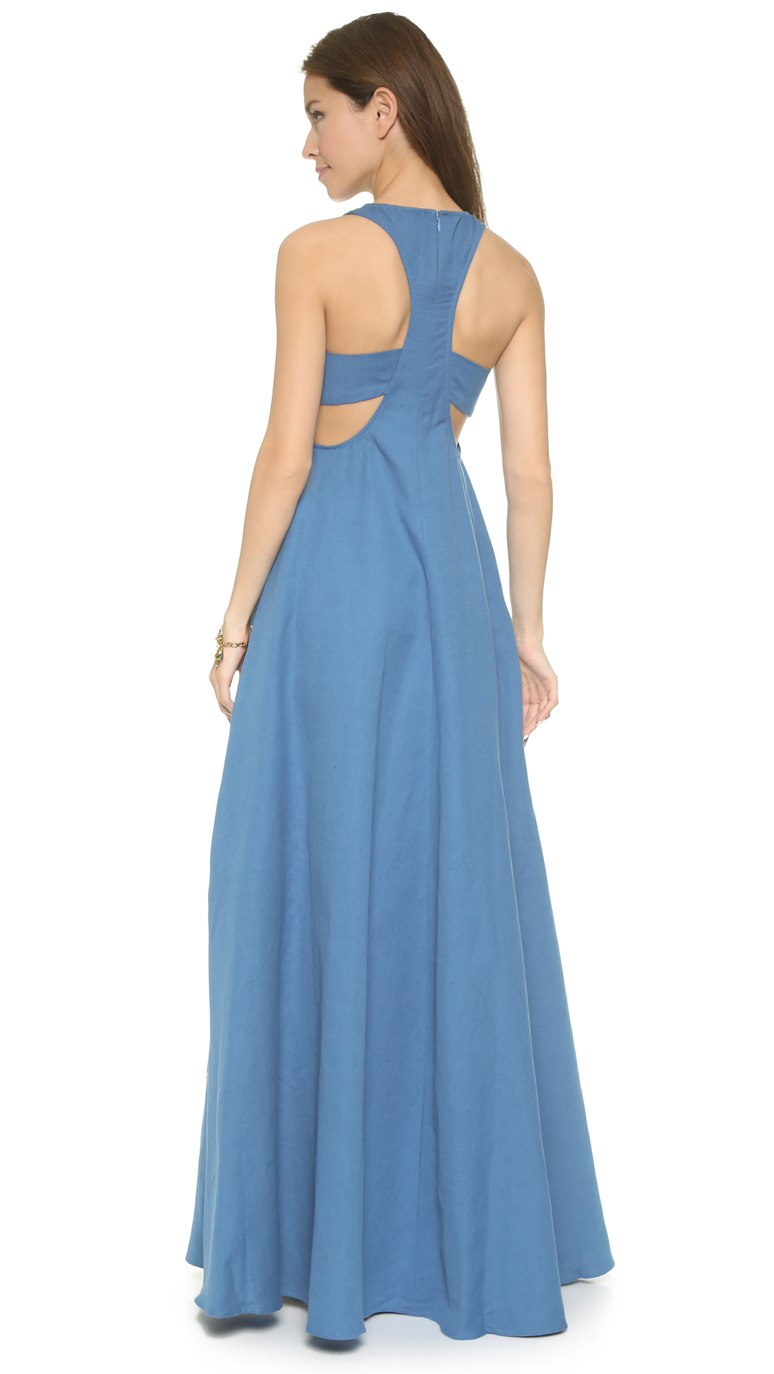 Lyst - Mara Hoffman Embroidered Cutout Dress - Electrolight Stone in ...