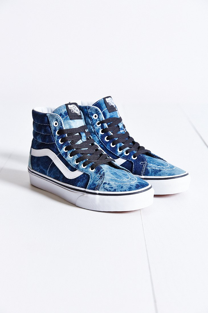b7f06f69e1 Lyst - Vans Sk8-Hi Denim Reissue Sneaker in Blue