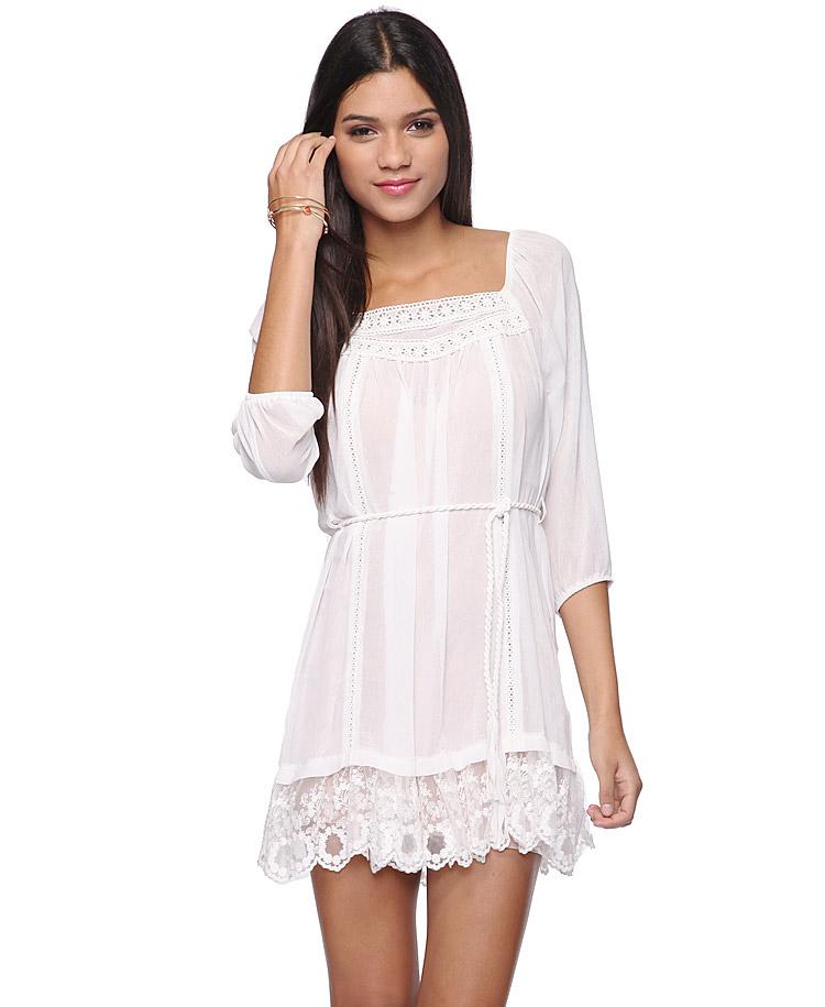 Cream lace dresses for juniors