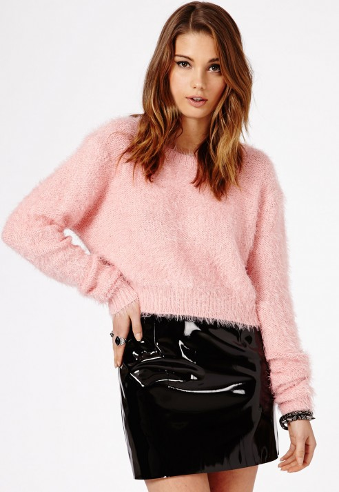 Missguided Nagsia Pvc Mini Skirt In Black in Black | Lyst