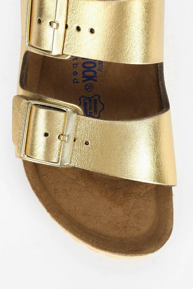 Birkenstock Arizona Soft Footbed Metallic Sandal In