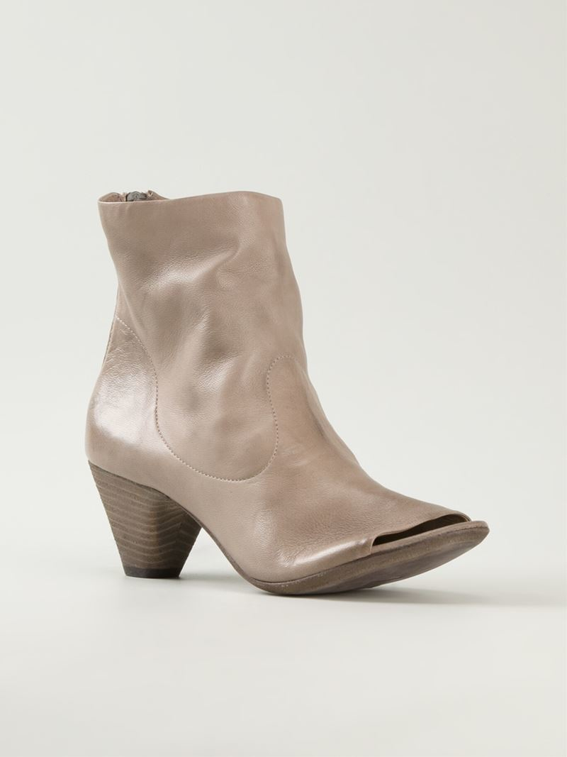 open toe boots - Brown Mars Dm6lR6