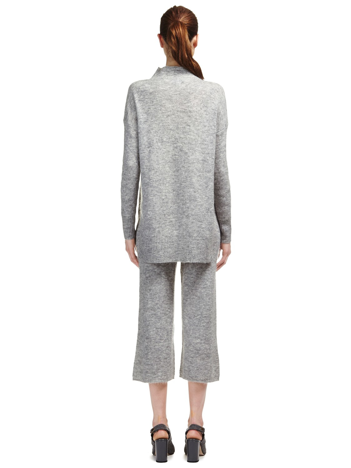 c0ffadc4b5e Whistles Mohair Blend Funnel Neck Knit Jumper in Gray - Lyst
