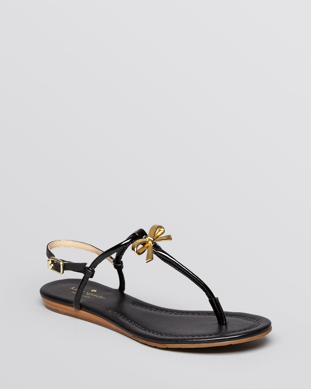 c1ab09c6319 Lyst - Kate Spade Flat Thong Sandals Tracie Bow in Black