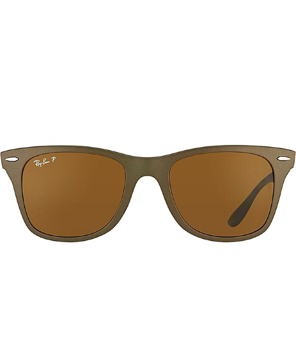 Brown Ray Ban Sunglasses  ray ban ray ban tech rb4195 liteforce wayfarer 603383 matte brown
