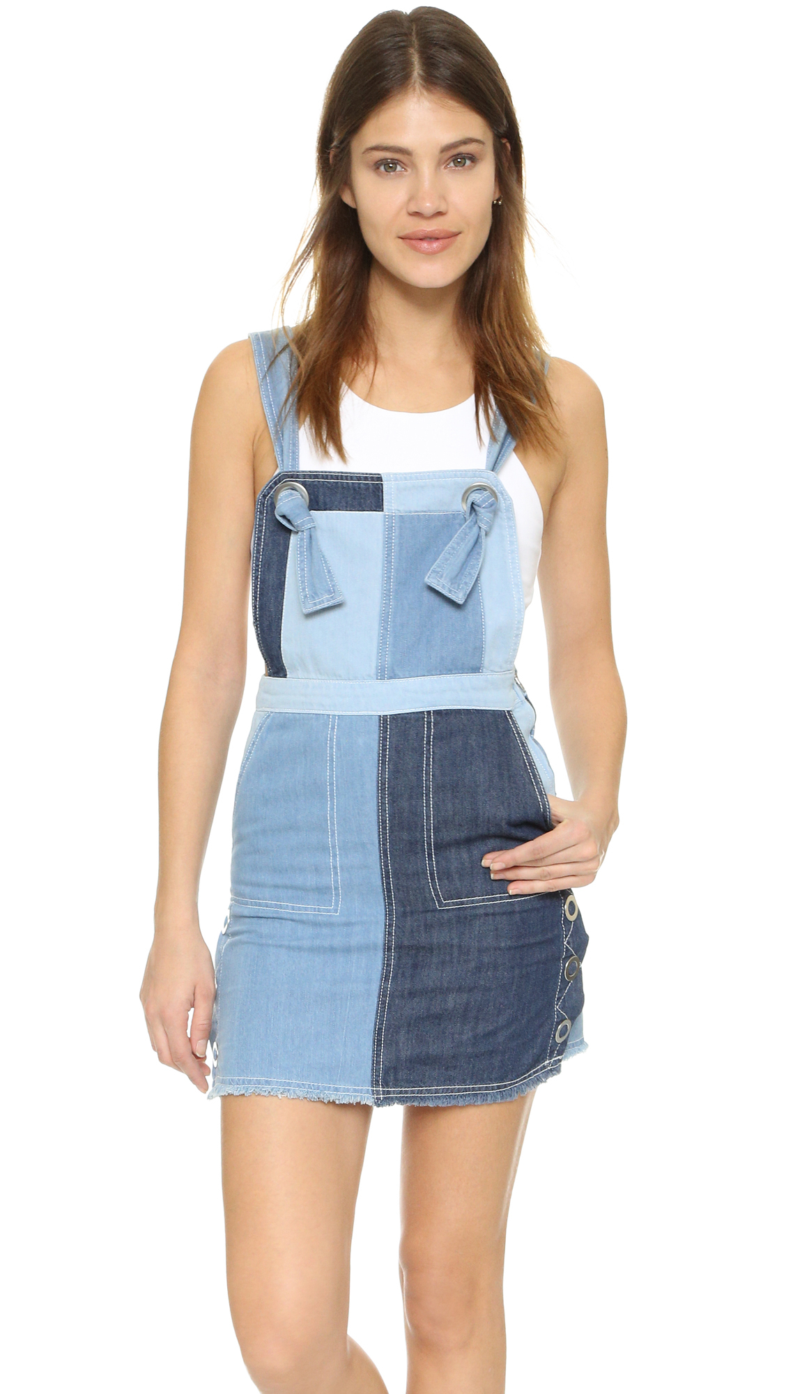 6492cf77f9 Denim Overalls Skirt Outfit