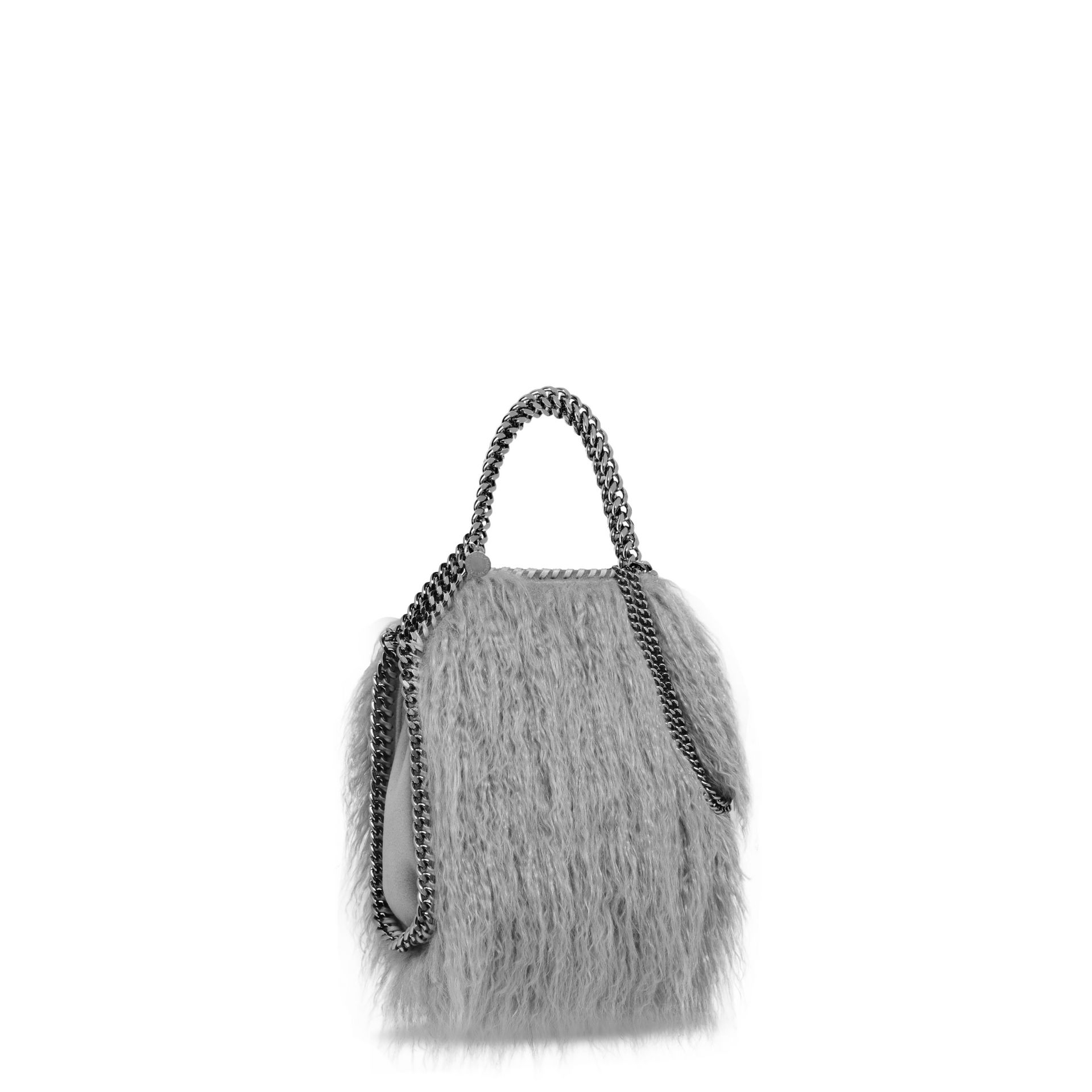 e2ad482b9fa3 Stella McCartney Grey Falabella Alter Fur Mini Tote in Gray - Lyst